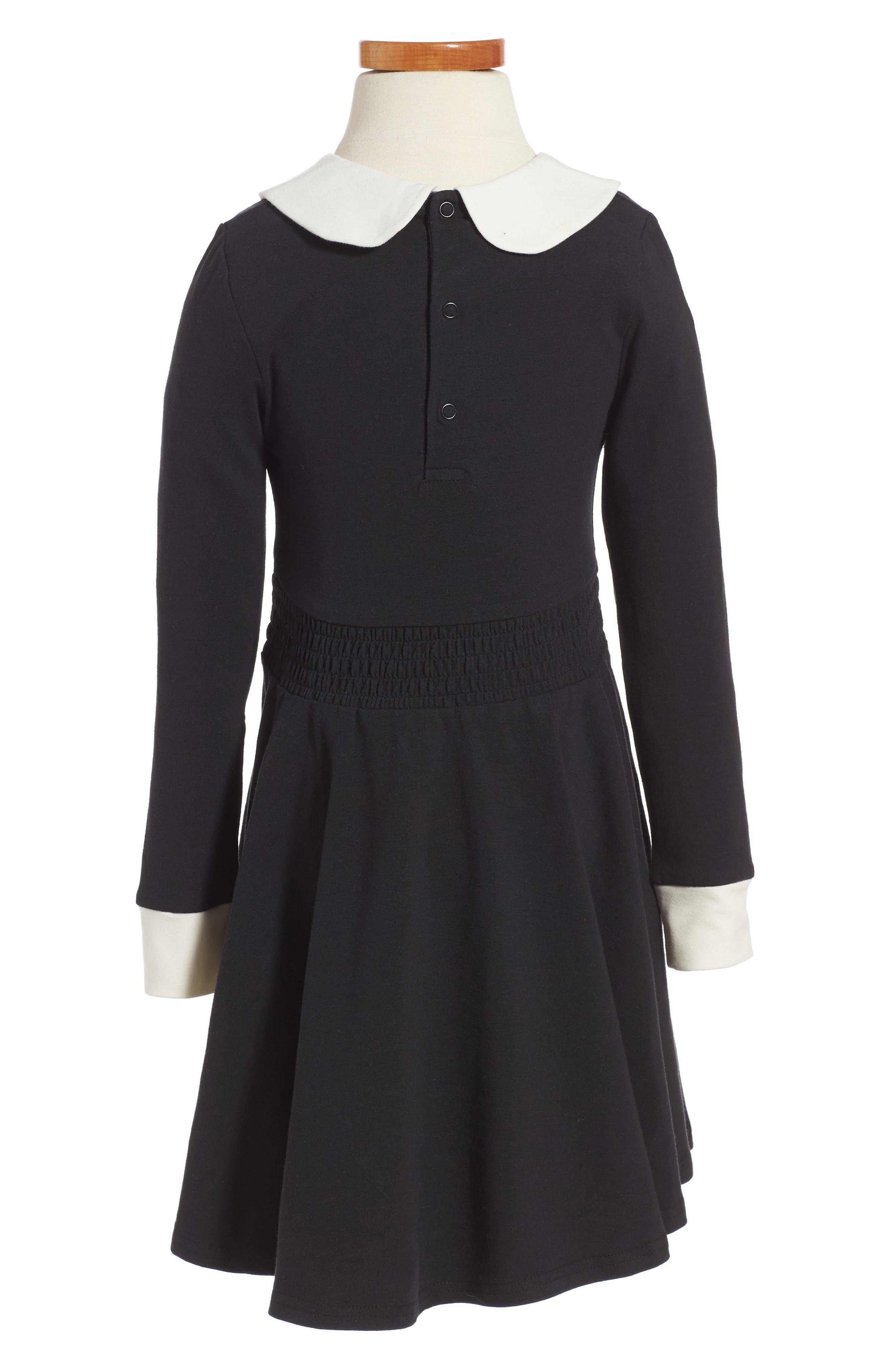 Coco Fit & Flare Dress,                             Alternate thumbnail 2, color,                             Black