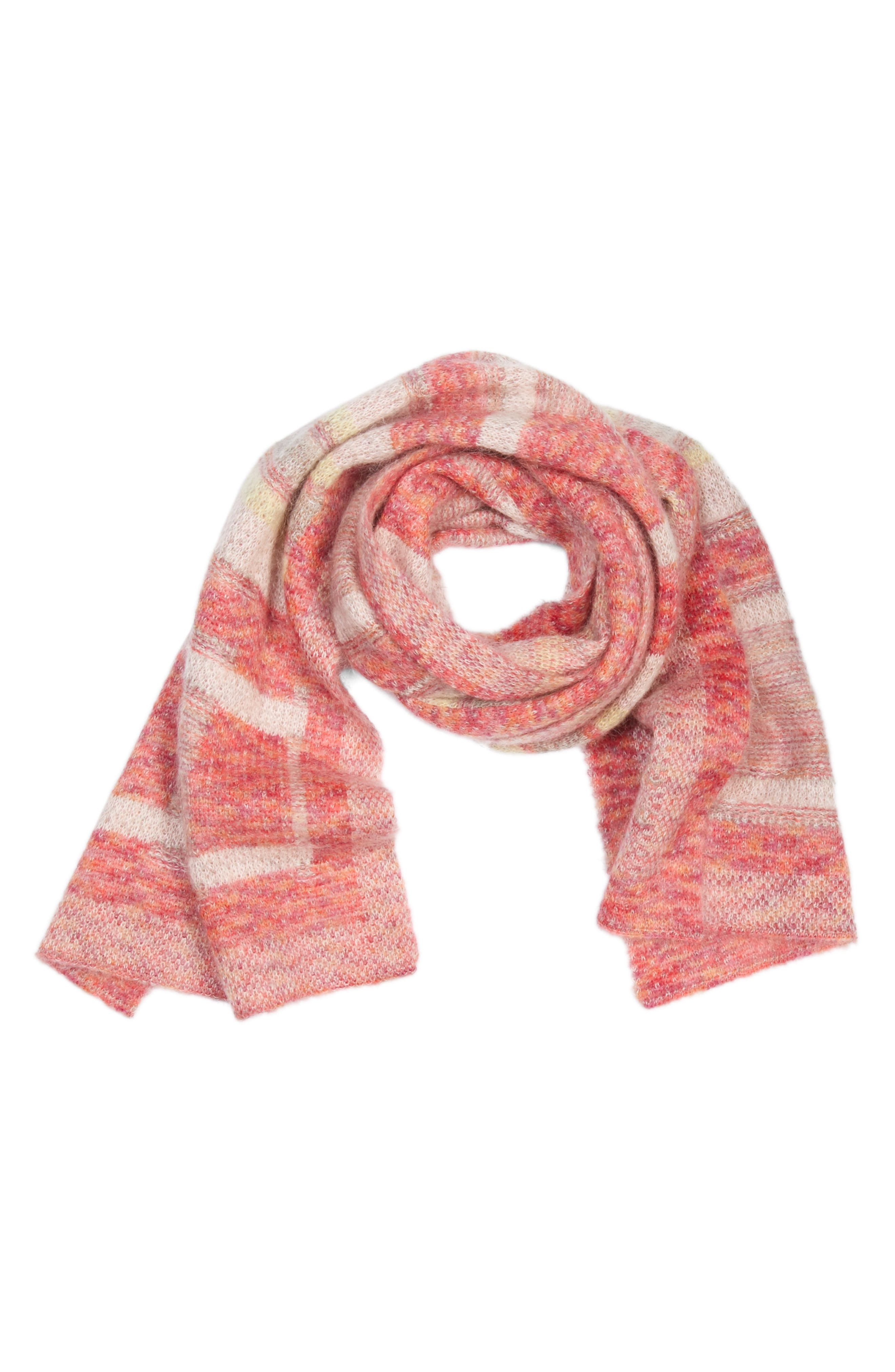 St. John Collection Knit Plaid Scarf