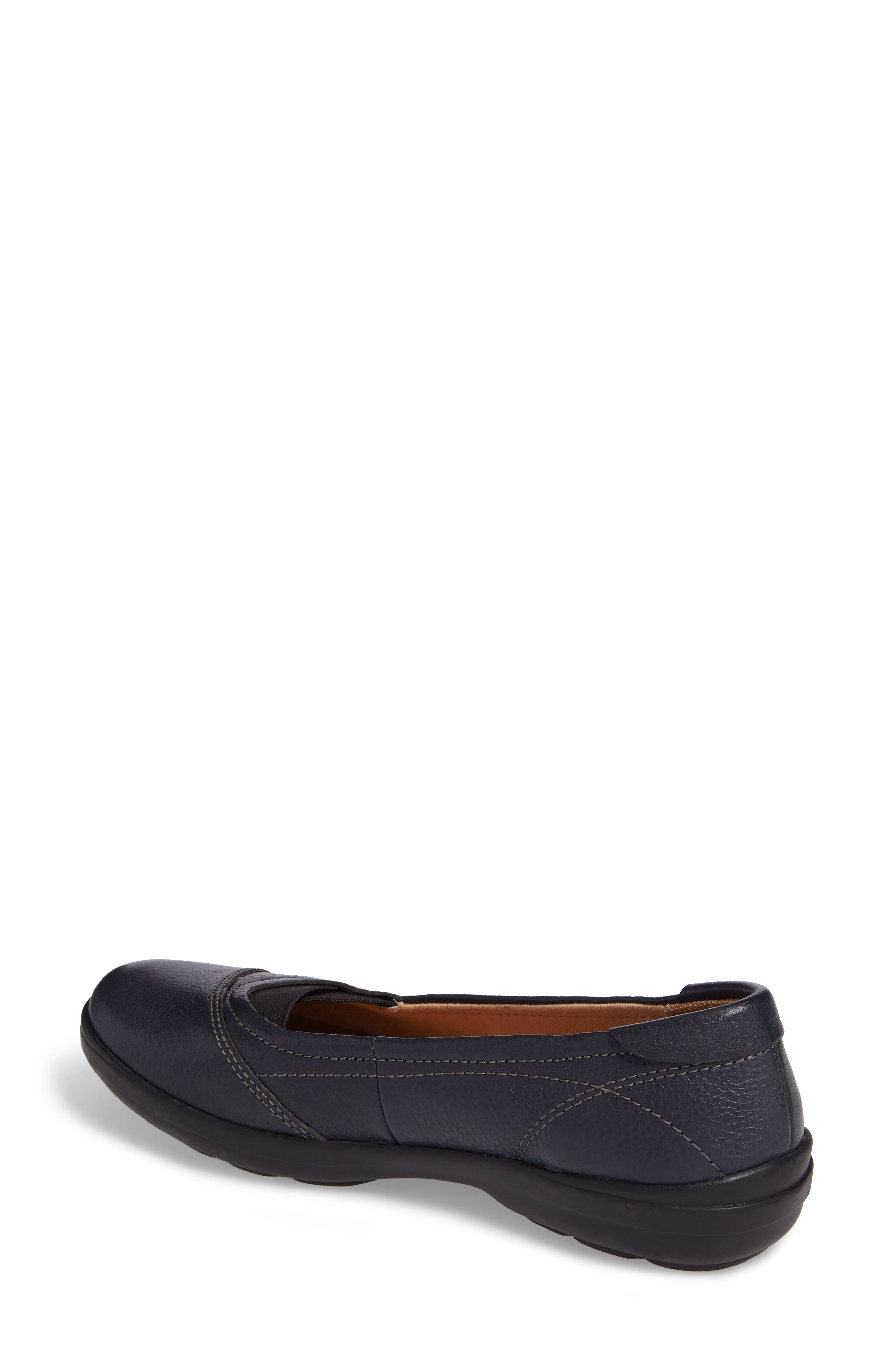 Renee Flat,                             Alternate thumbnail 2, color,                             Navy Leather