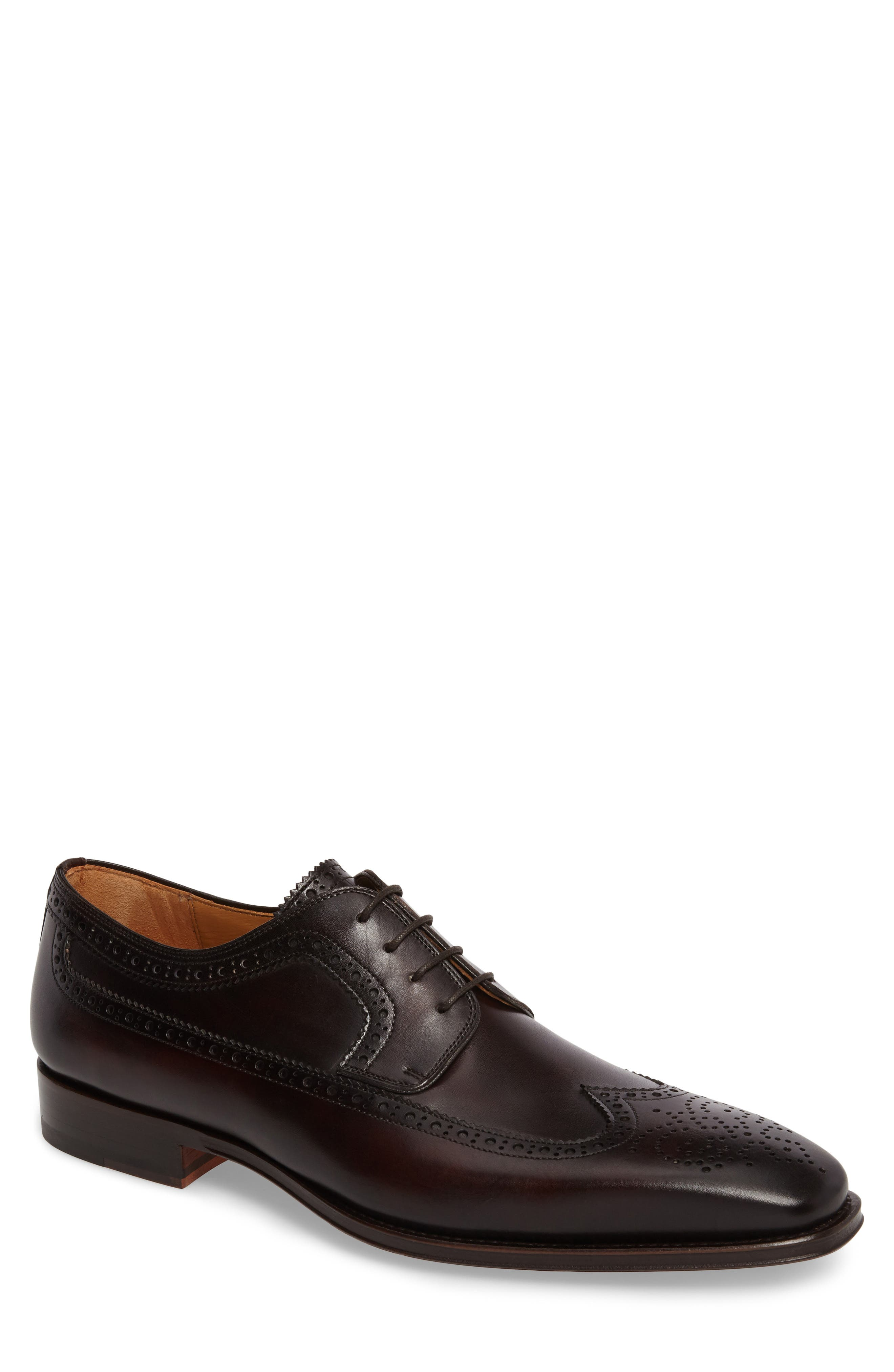 Marbelo Longwing Derby,                         Main,                         color, Brown Leather