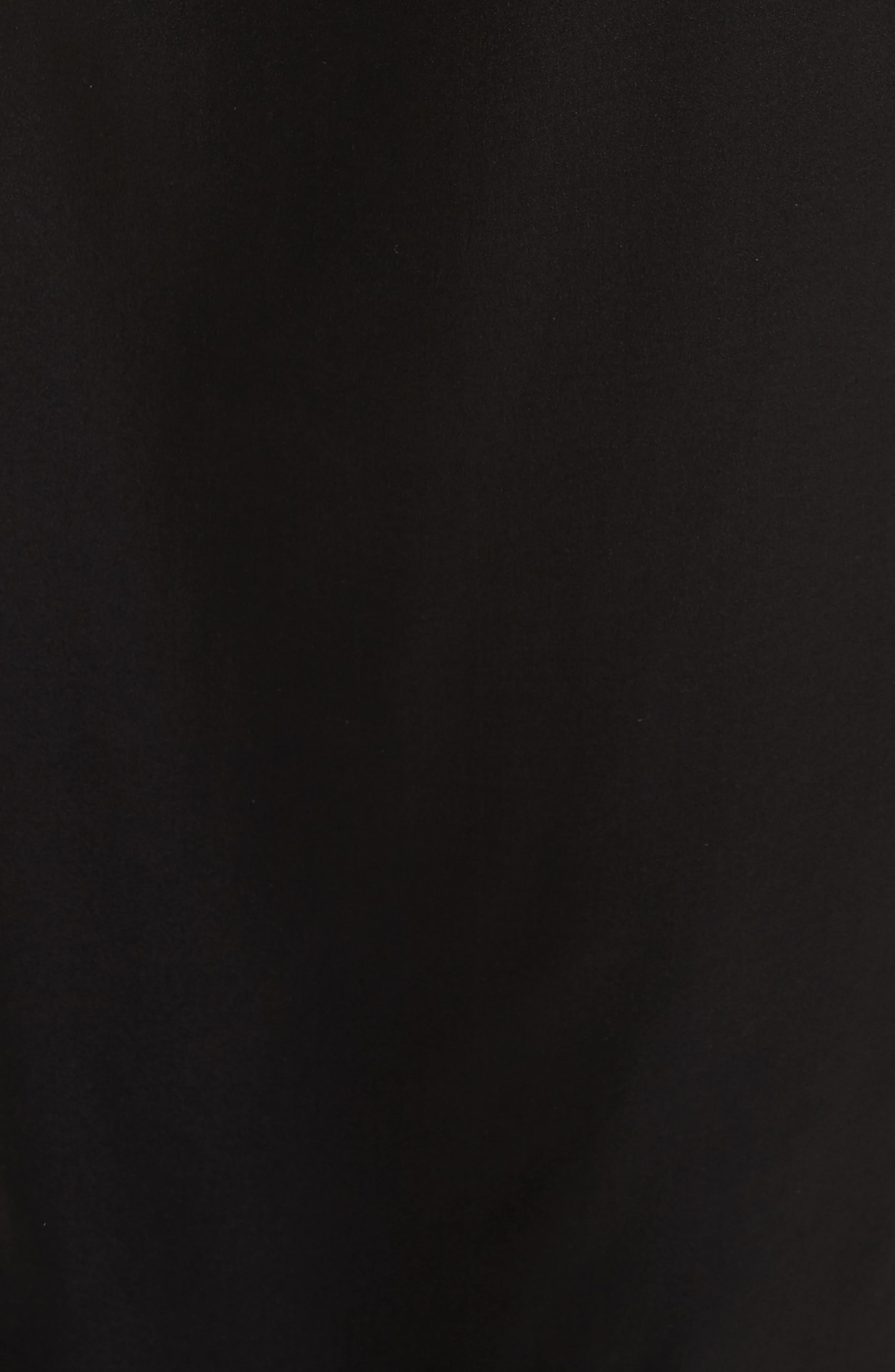 Kelby Silk Slipdress,                             Alternate thumbnail 5, color,                             True Black