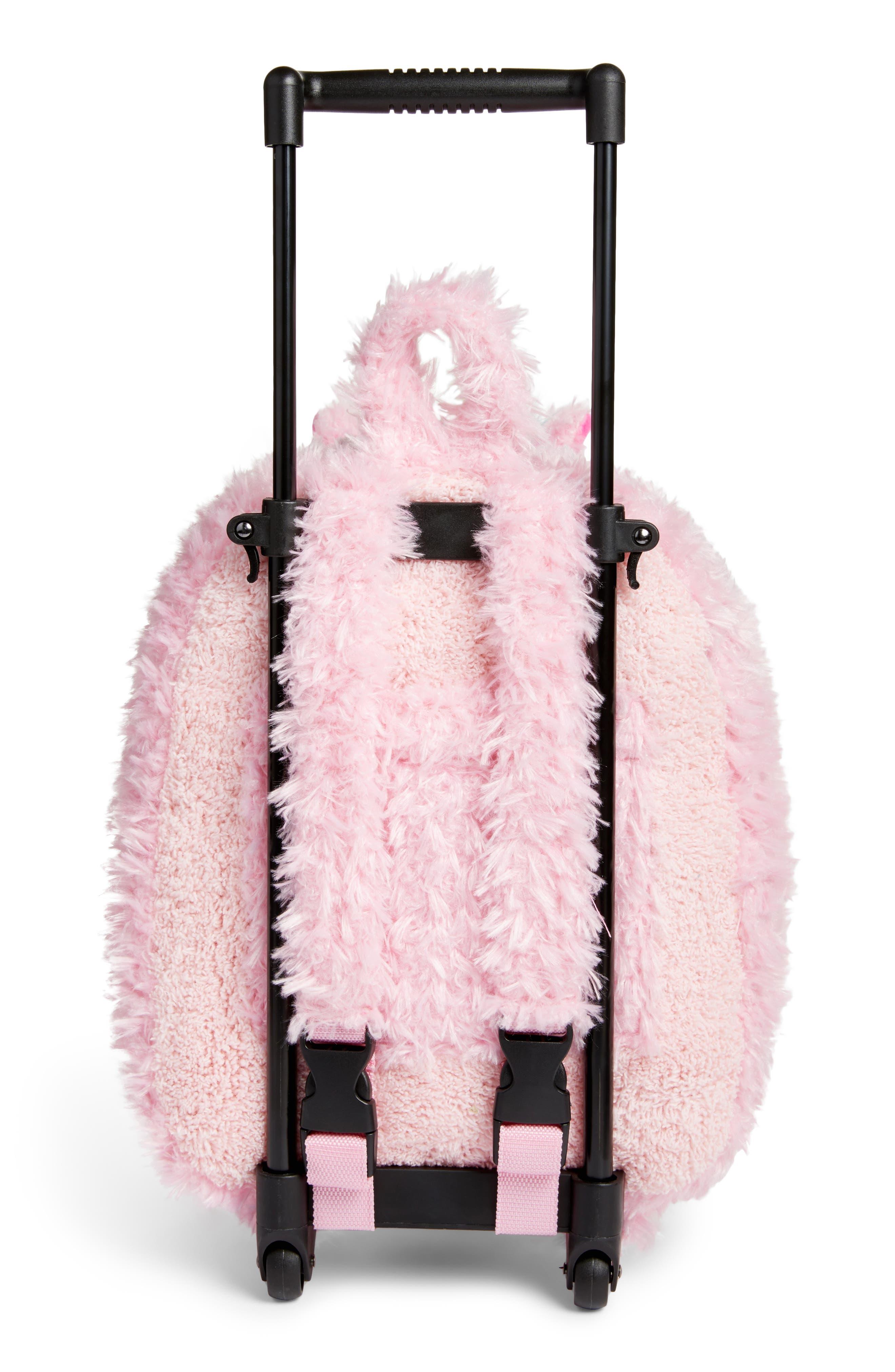 Alternate Image 2  - Popatu Unicorn Trolley Rolling Backpack (Kids)
