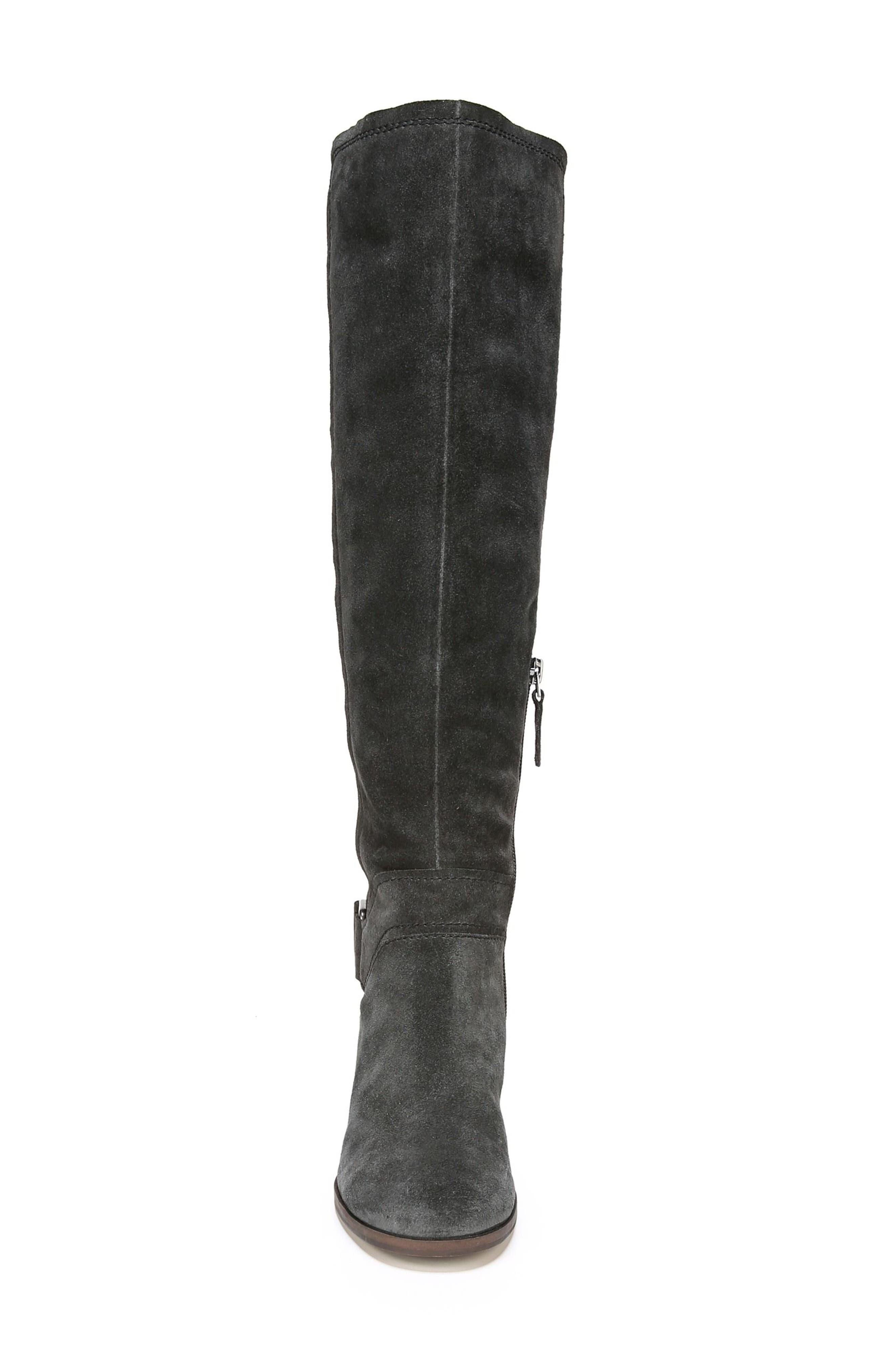 Mystic Knee High Boot,                             Alternate thumbnail 4, color,                             Coal Suede