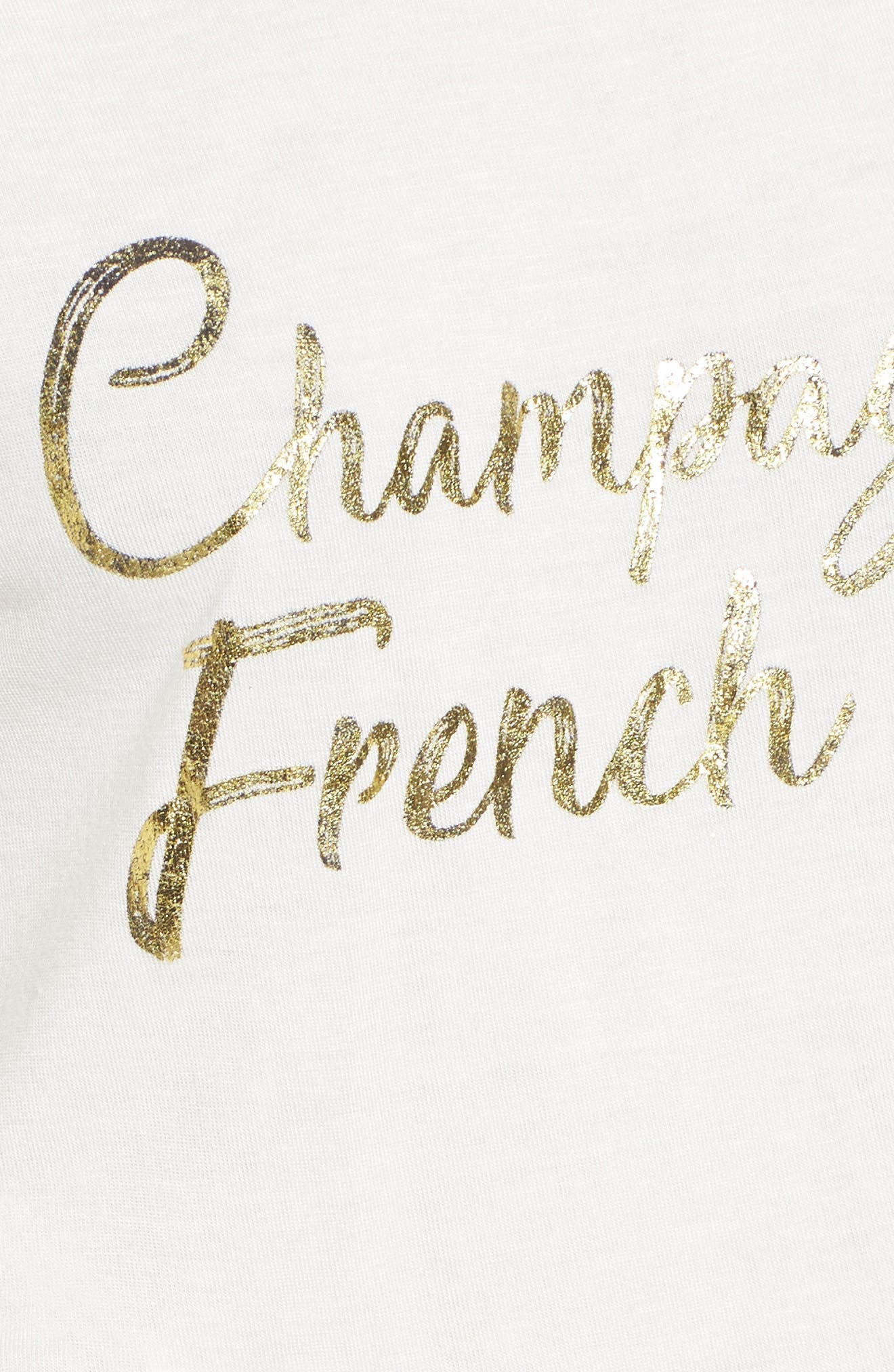 Champagne & French Fries Tee,                             Alternate thumbnail 5, color,                             Ivory
