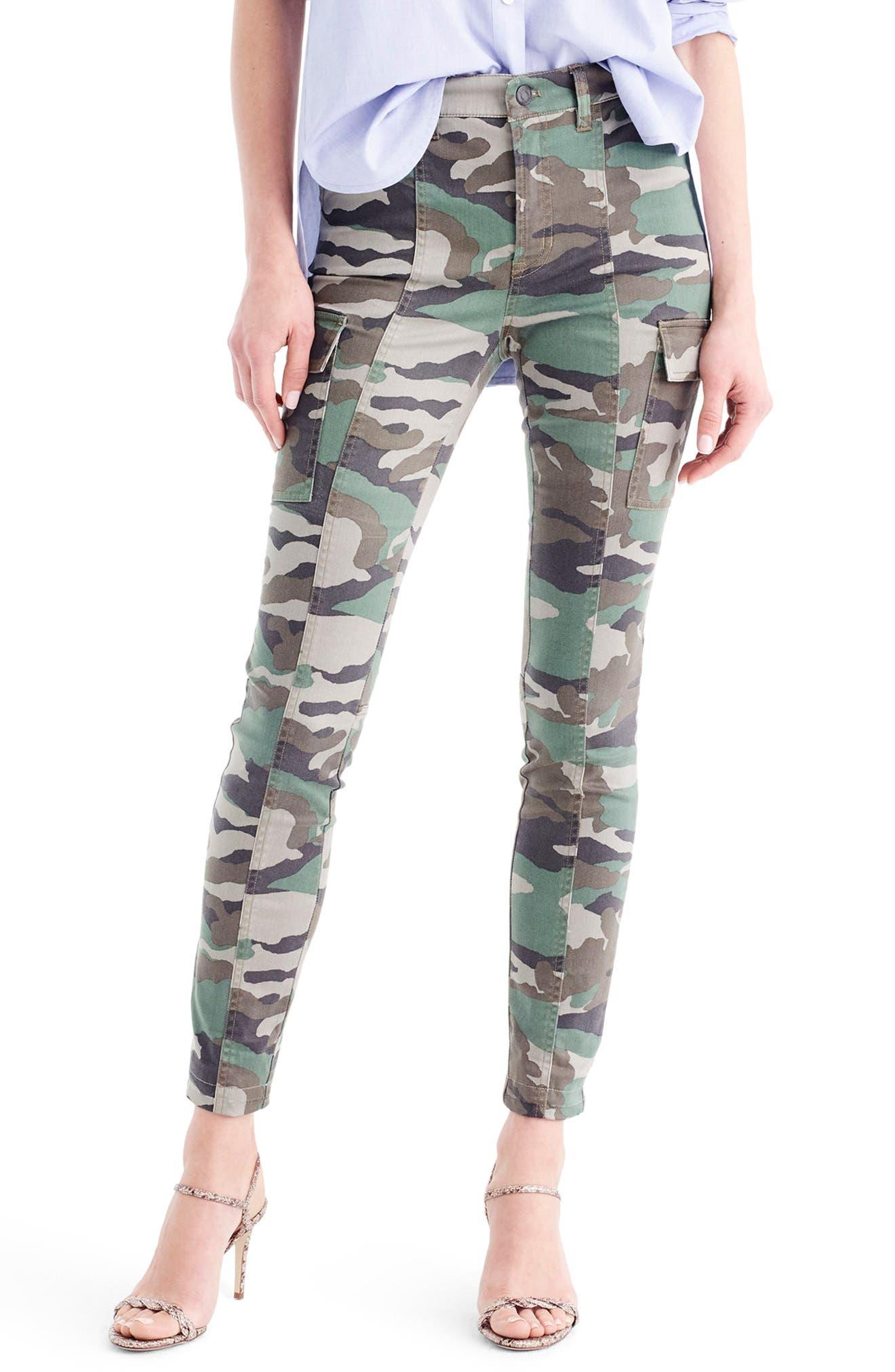 J.Crew Camo Skinny Cargo Pants
