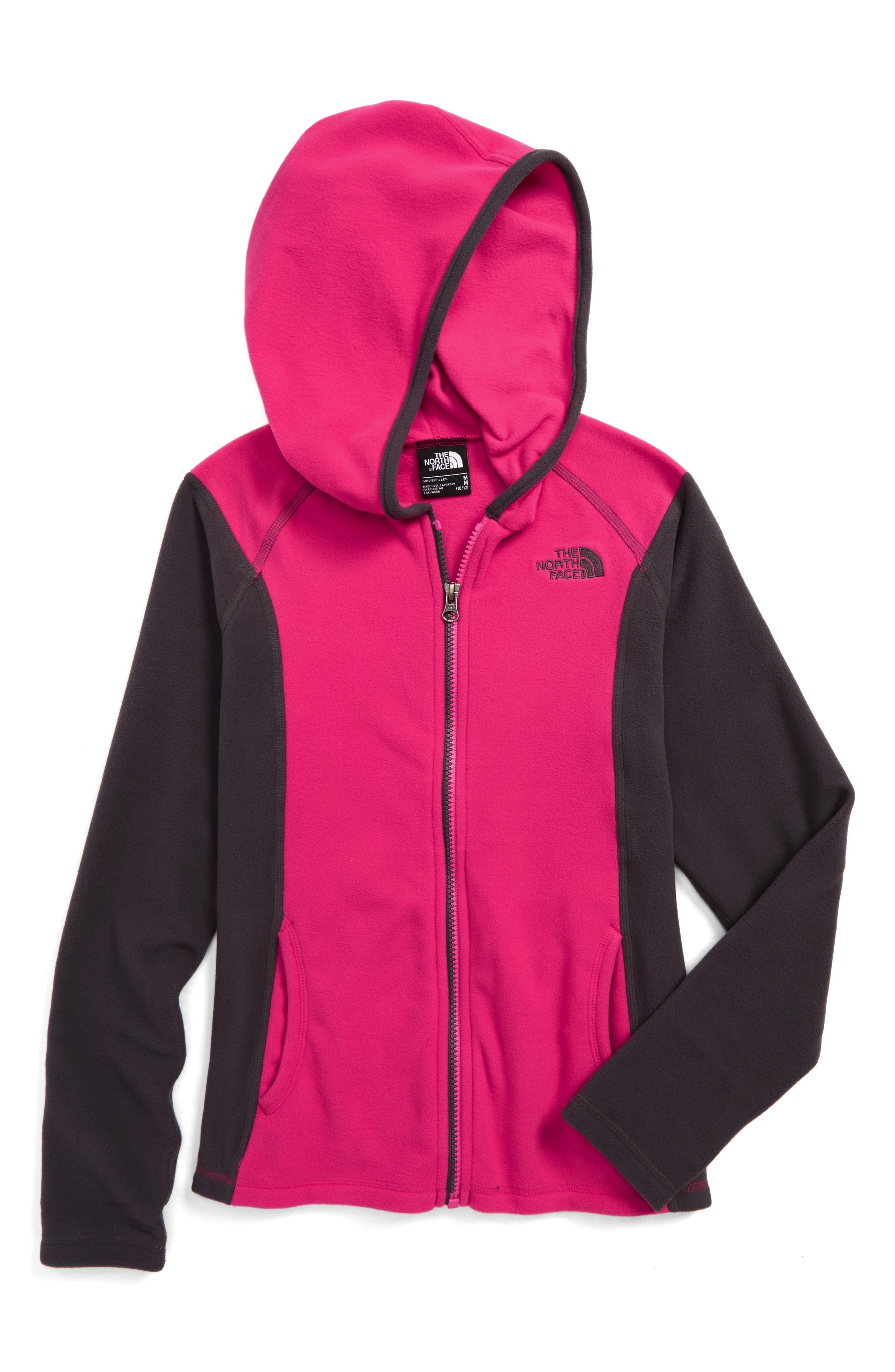 Glacier Full Zip Hoodie,                         Main,                         color, Petticoat Pink