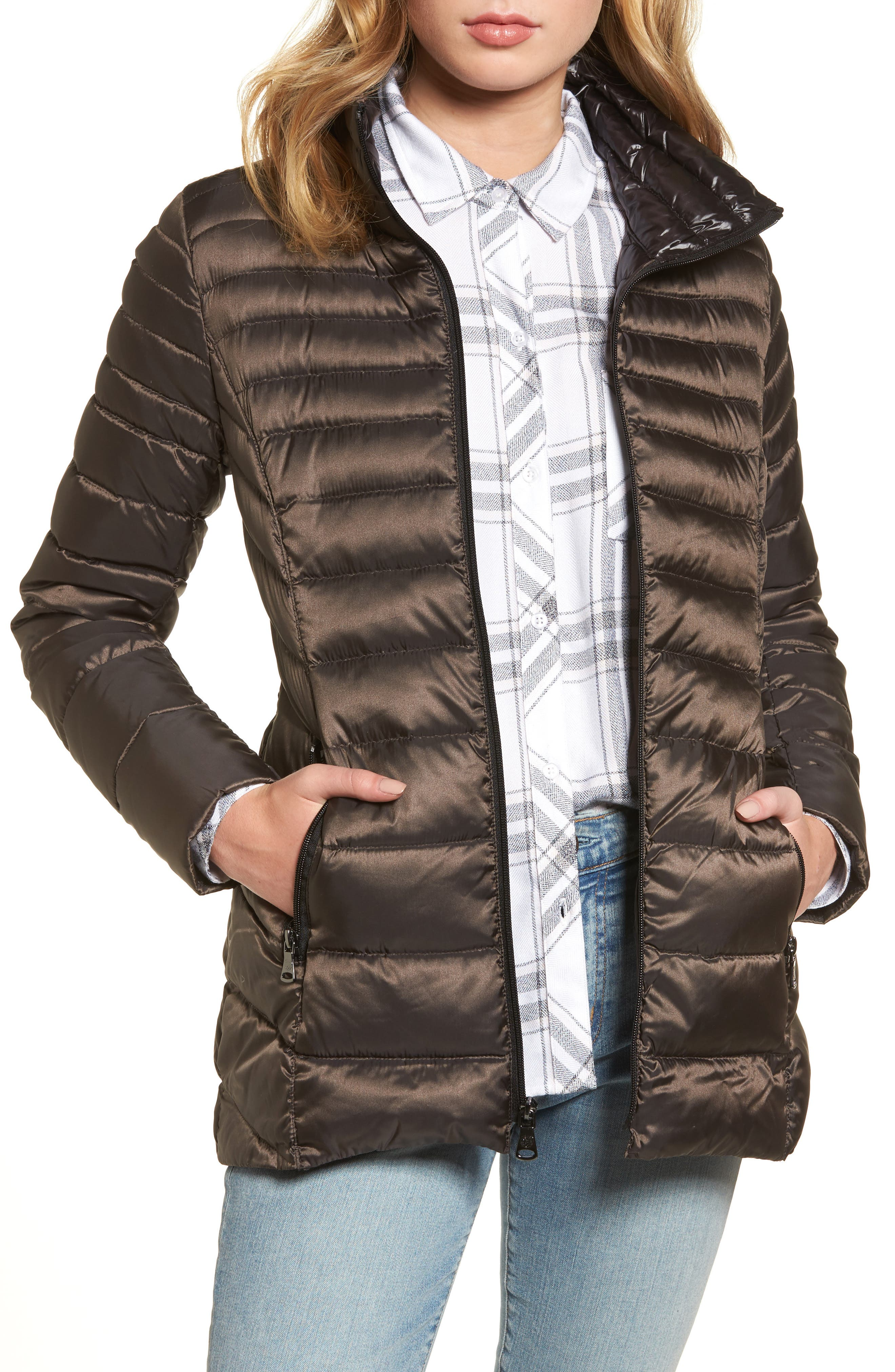 Packable Down Jacket,                         Main,                         color, Clay
