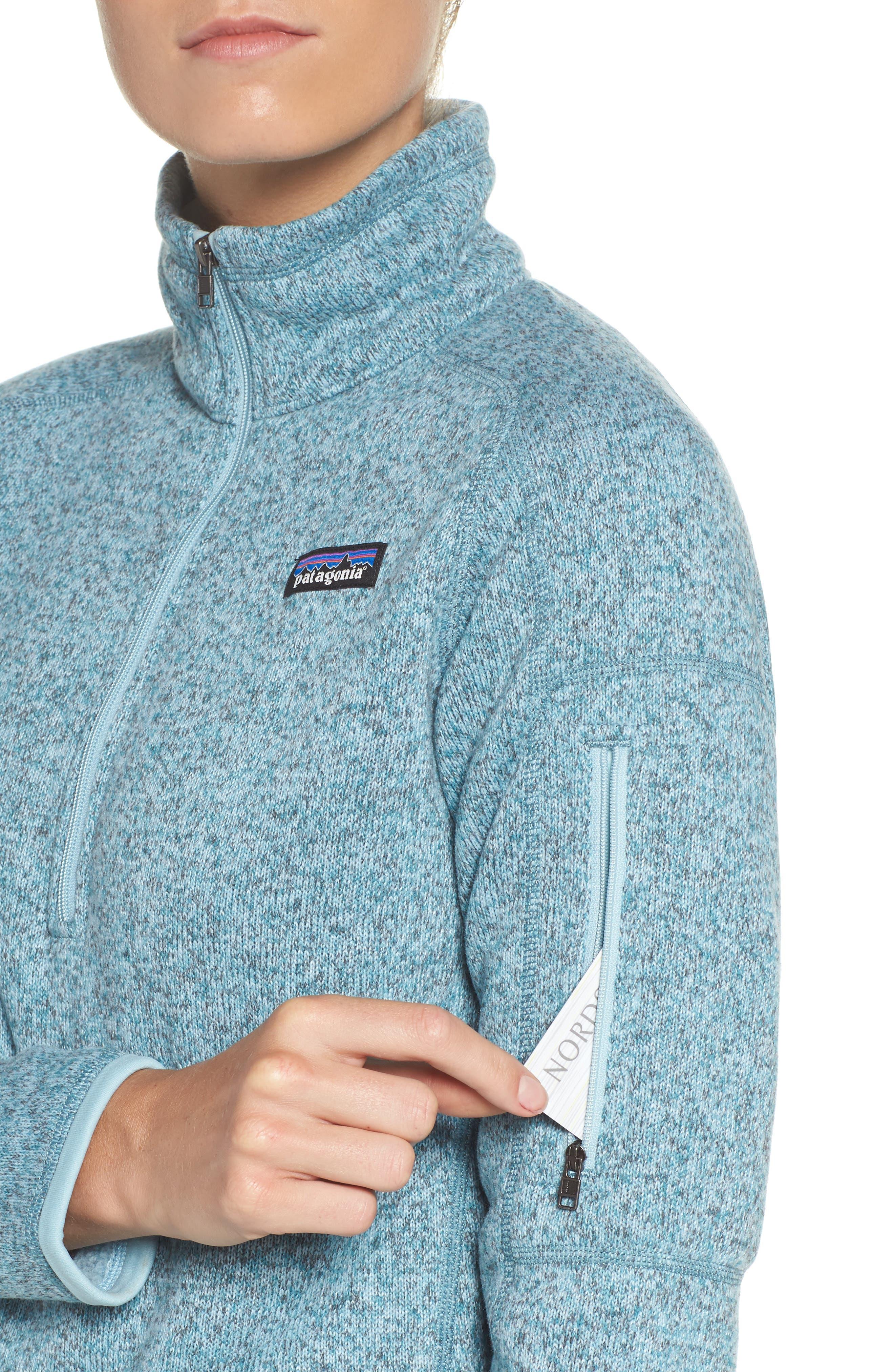 'Better Sweater' Zip Pullover,                             Alternate thumbnail 4, color,                             Tubular Blue W/ Crevasse Blue