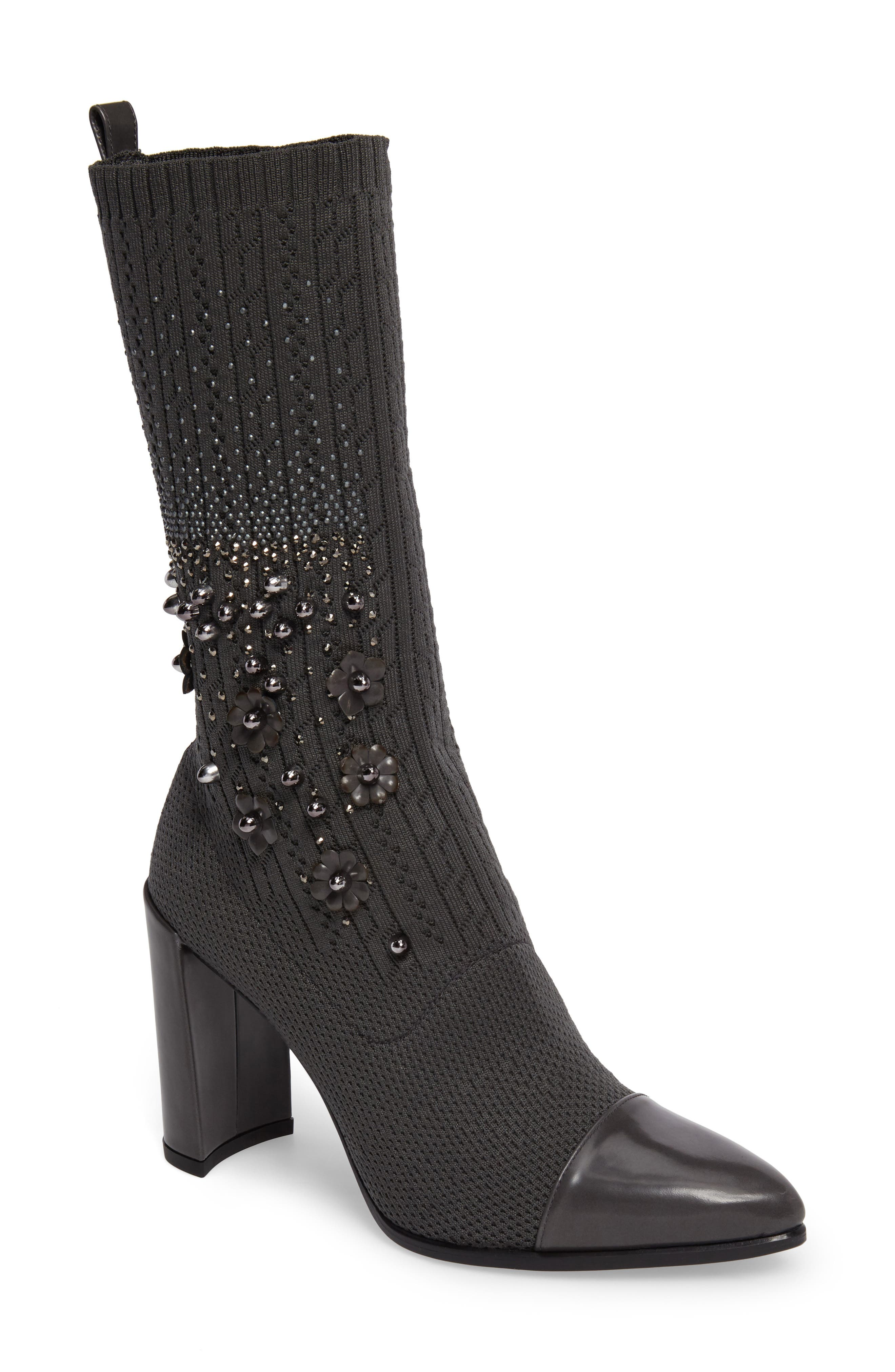 Stuart Weitzman Sockhop Embellished Boot (Women)