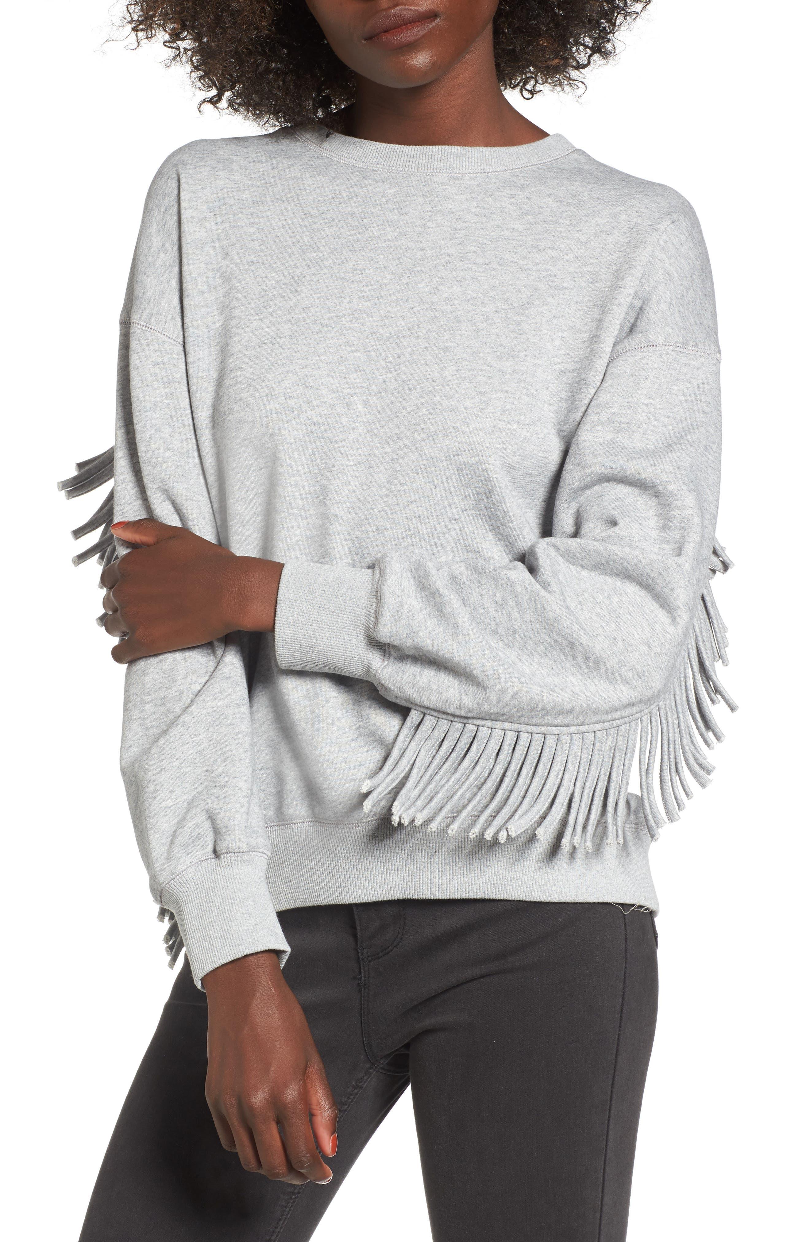 Main Image - J.O.A. Fringe Sweatshirt