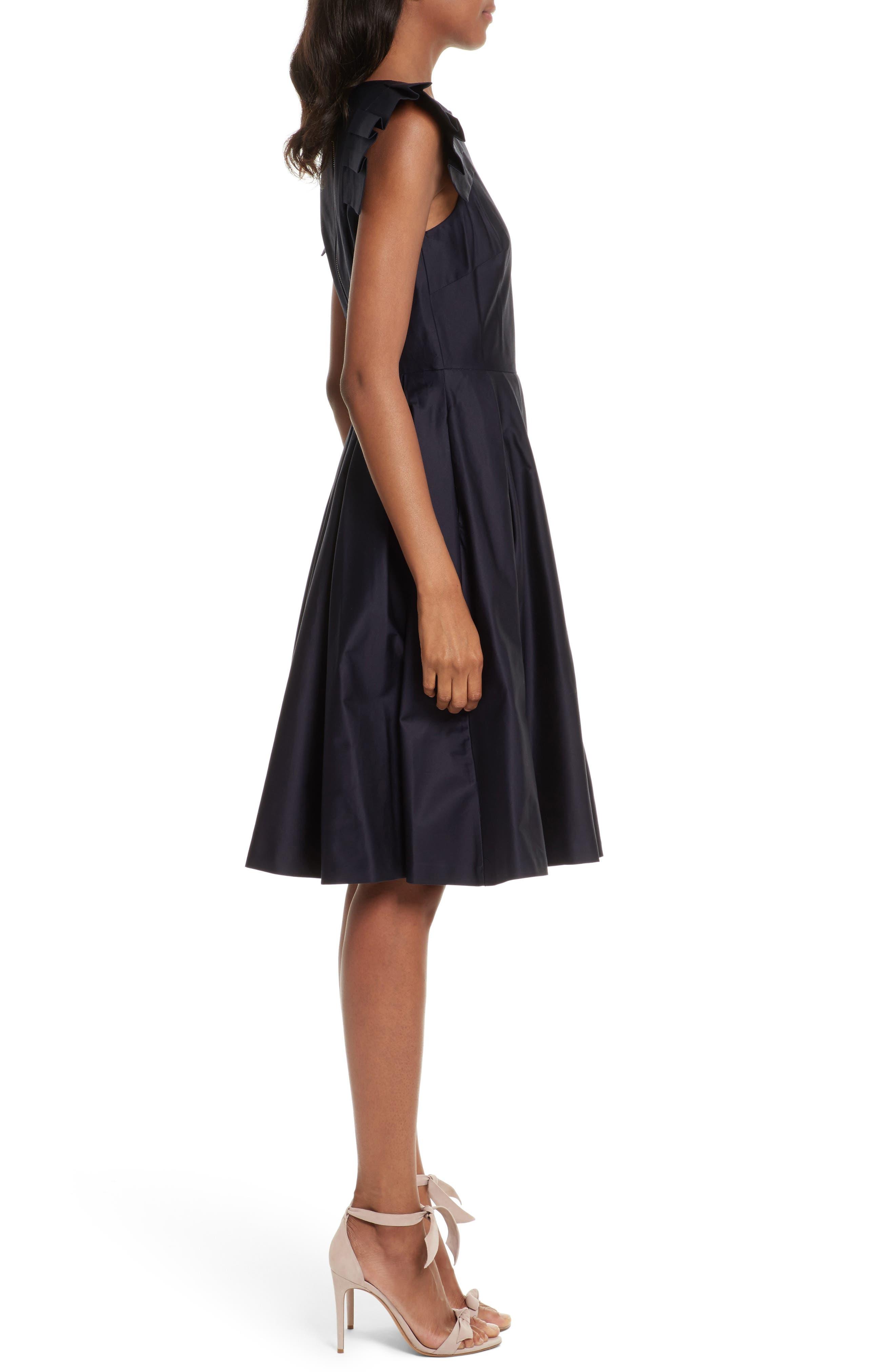 Gabrina Fit & Flare Dress,                             Alternate thumbnail 3, color,                             Navy