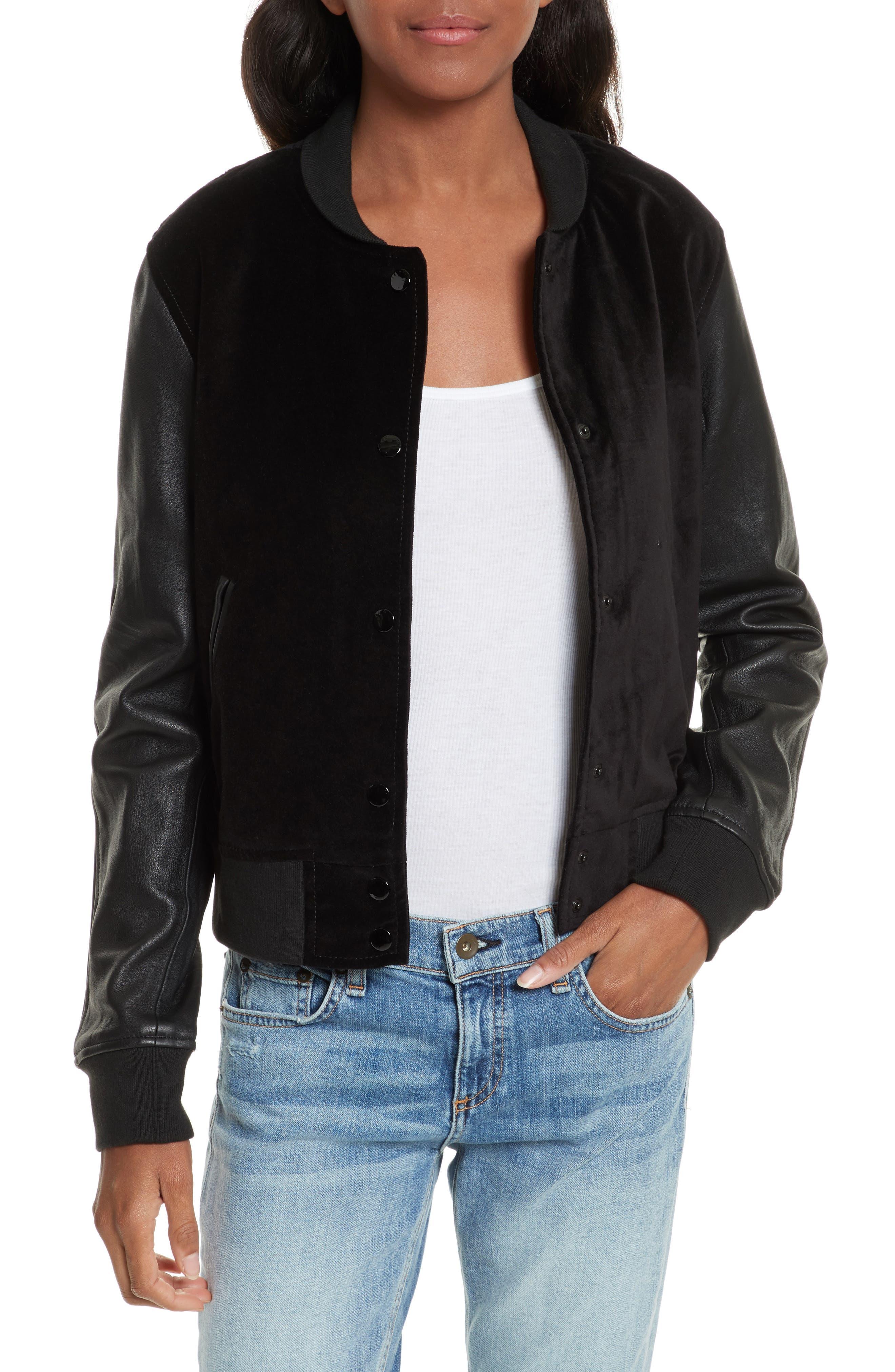 Camden Varsity Jacket,                         Main,                         color, Black