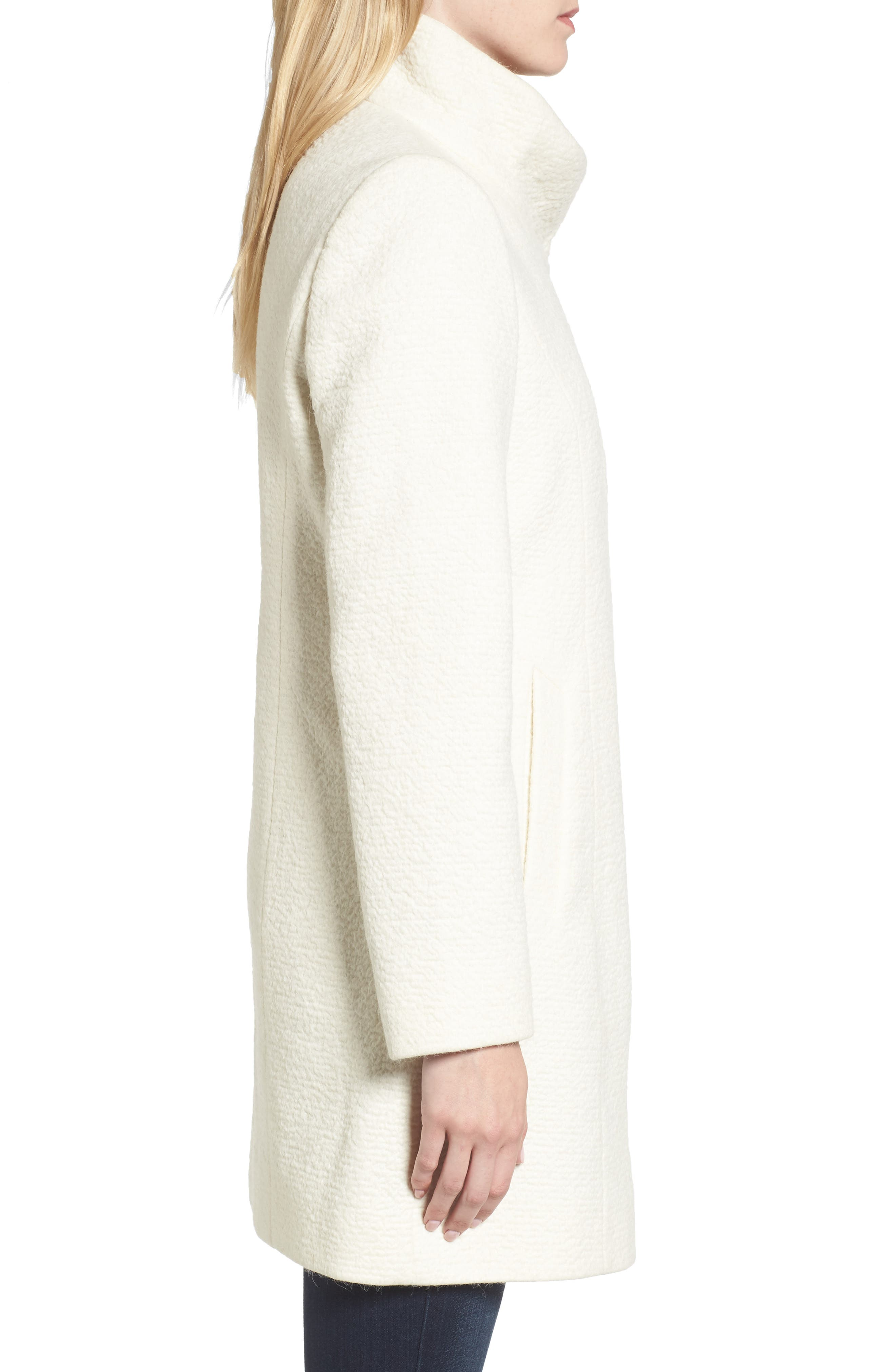 Alternate Image 3  - Cole Haan Double Breasted Funnel Neck Coat