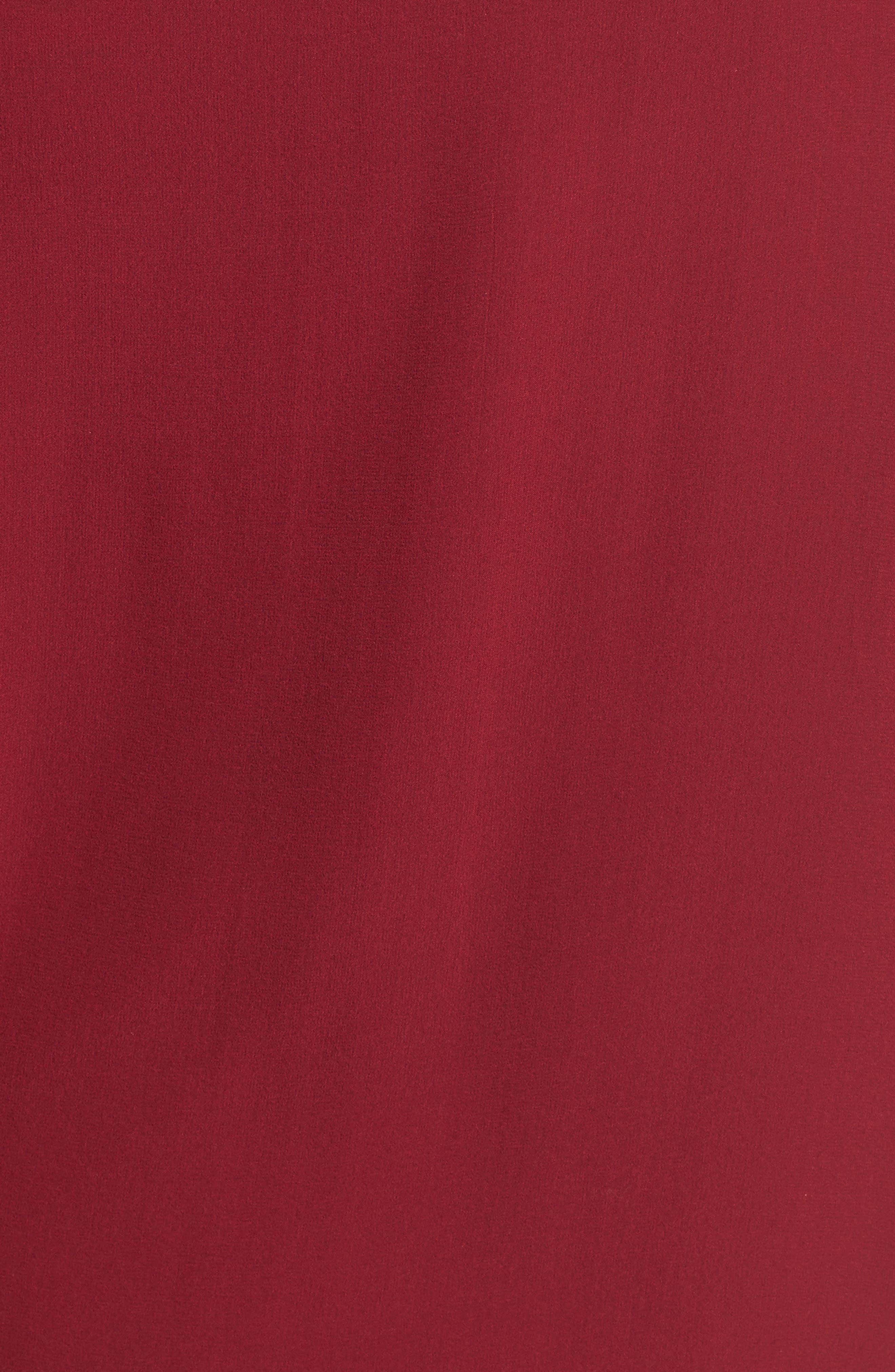 Bateau Neck Silk Boxy Top,                             Alternate thumbnail 5, color,                             Hibiscus
