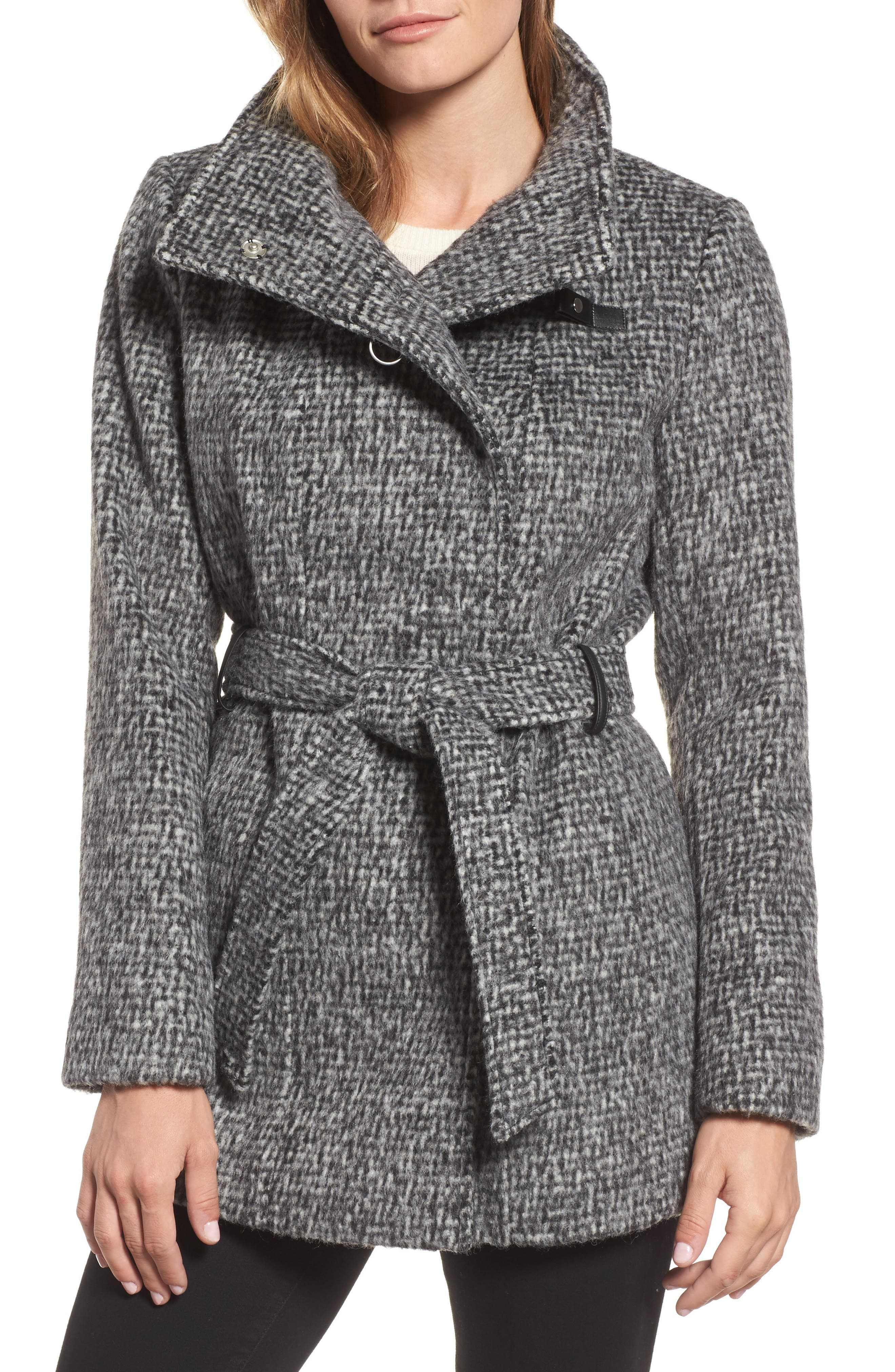 Alternate Image 1 Selected - Cole Haan Signature Belted Wrap Coat