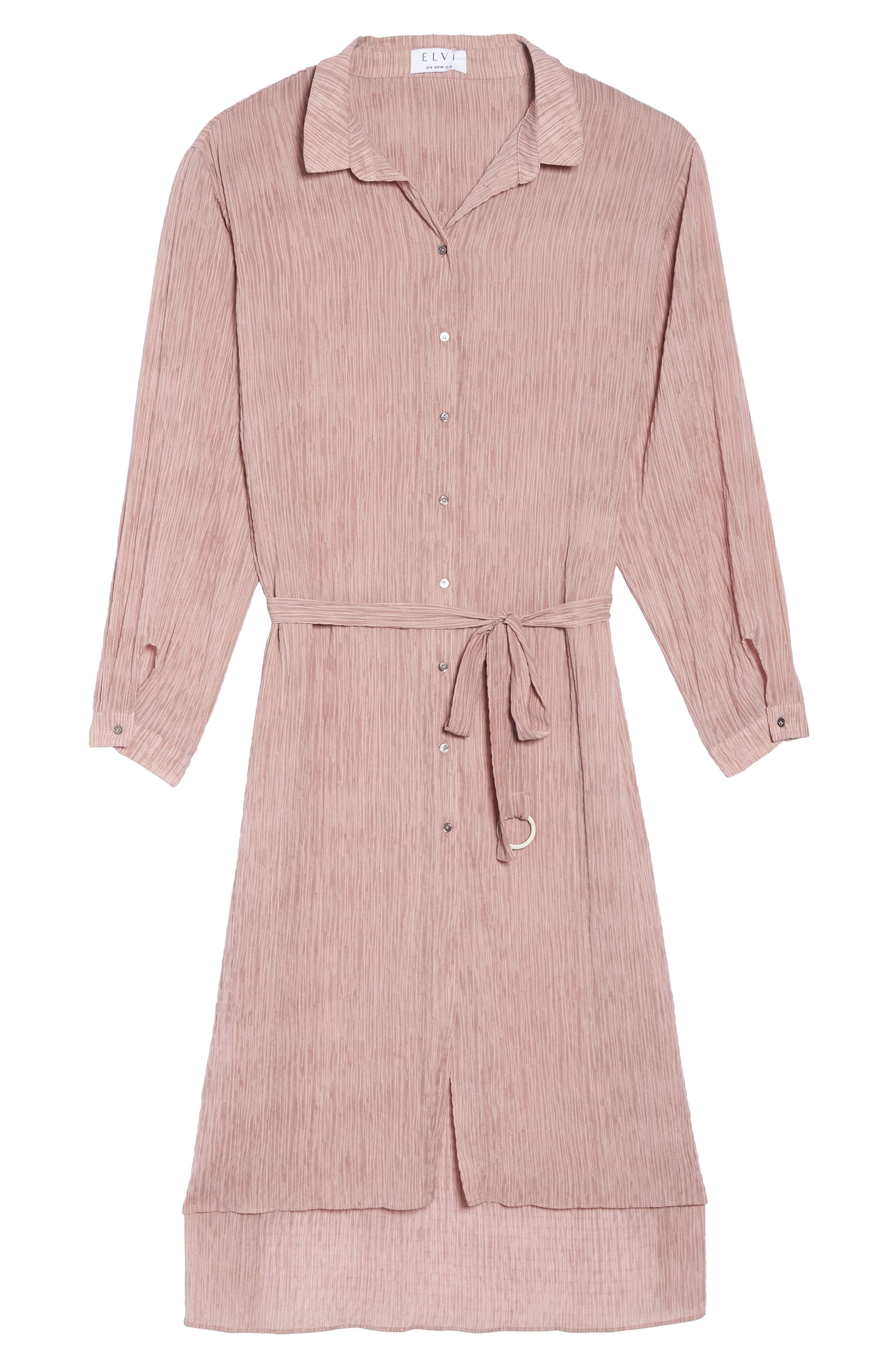 High/Low Shirtdress,                             Alternate thumbnail 6, color,                             Pink