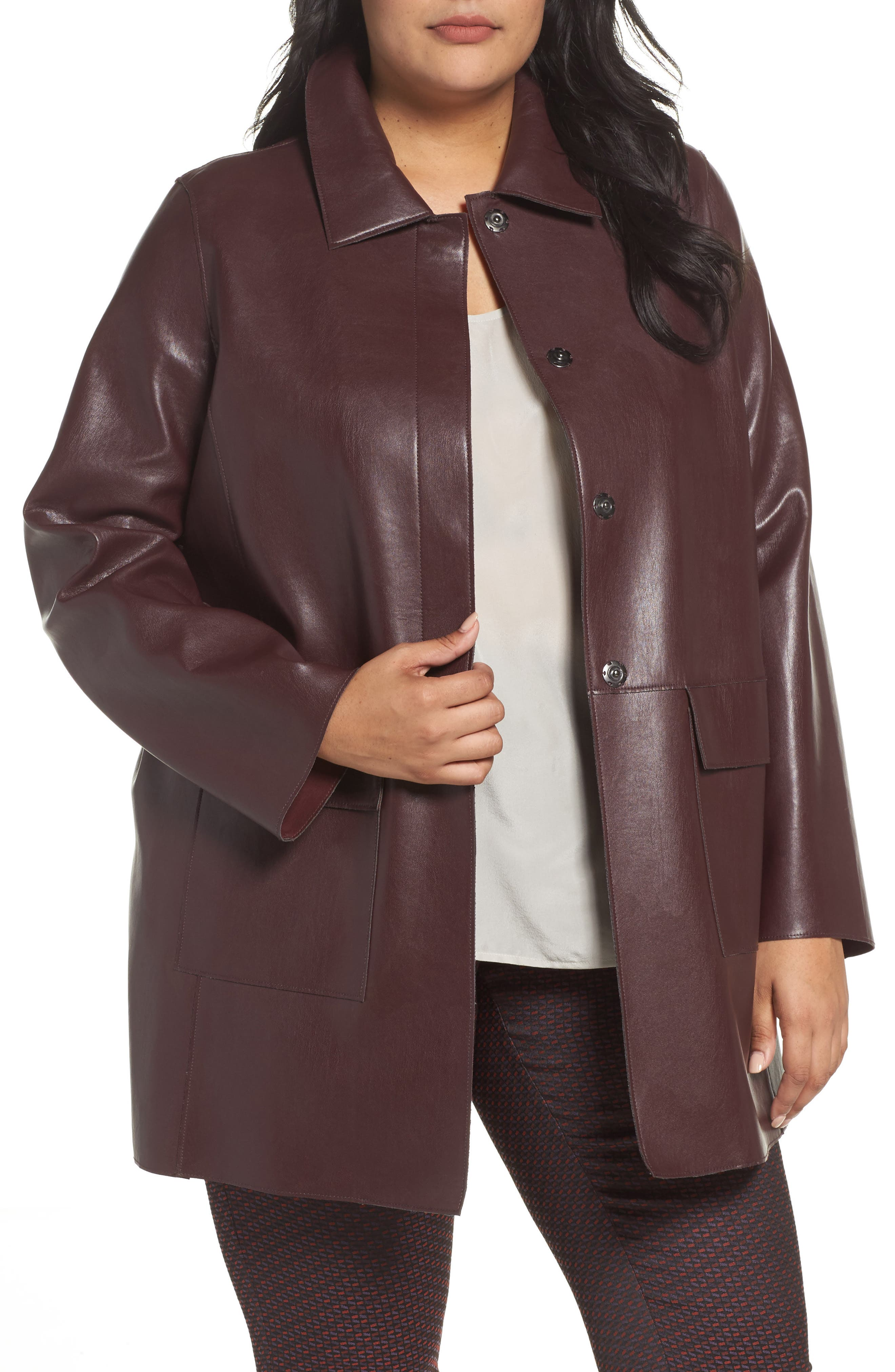 Alternate Image 1 Selected - Persona by Marina Rinaldi Narrare Faux Leather Coat (Plus Size)