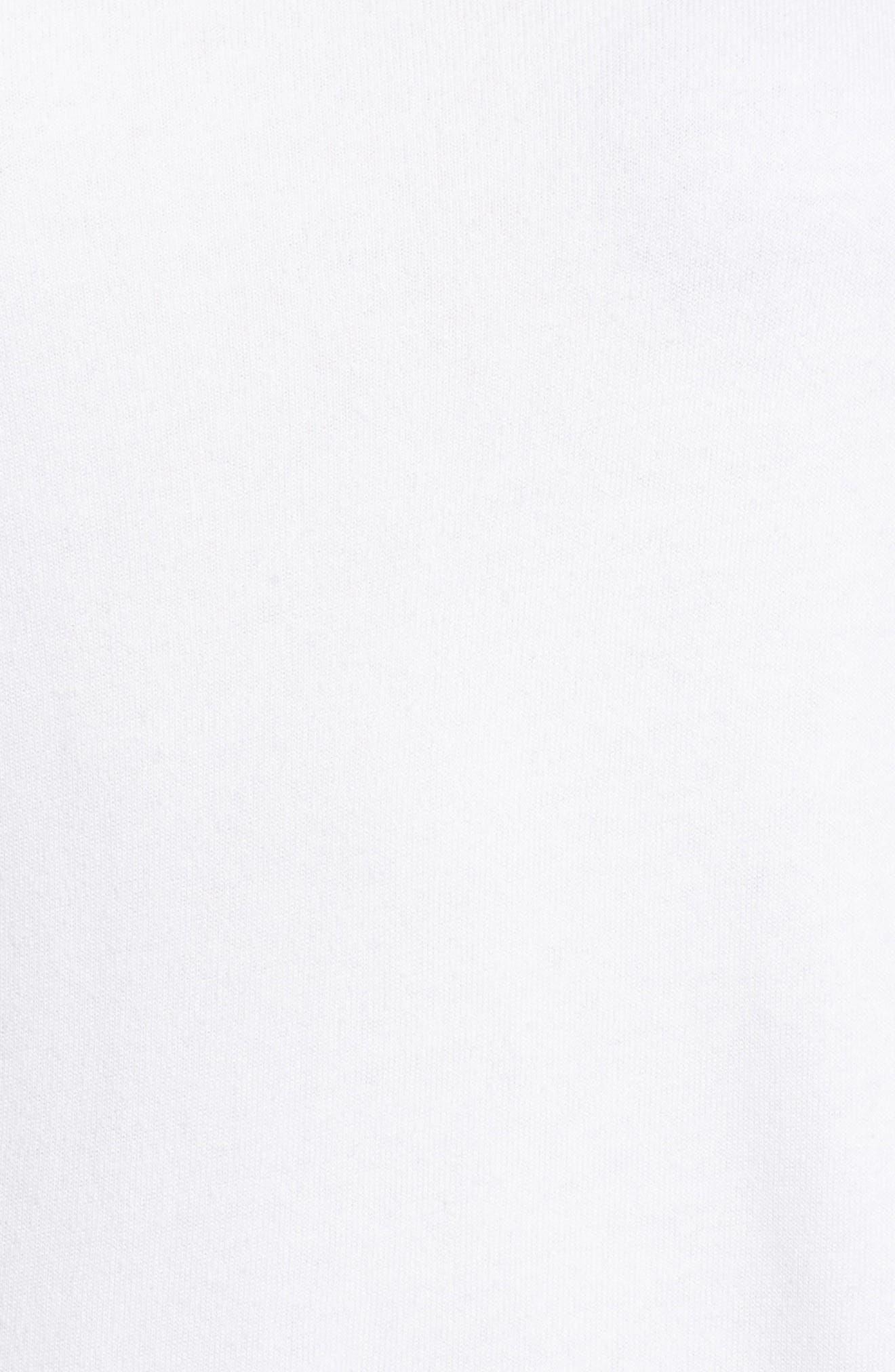 Cold Shoulder Sweatshirt,                             Alternate thumbnail 5, color,                             White