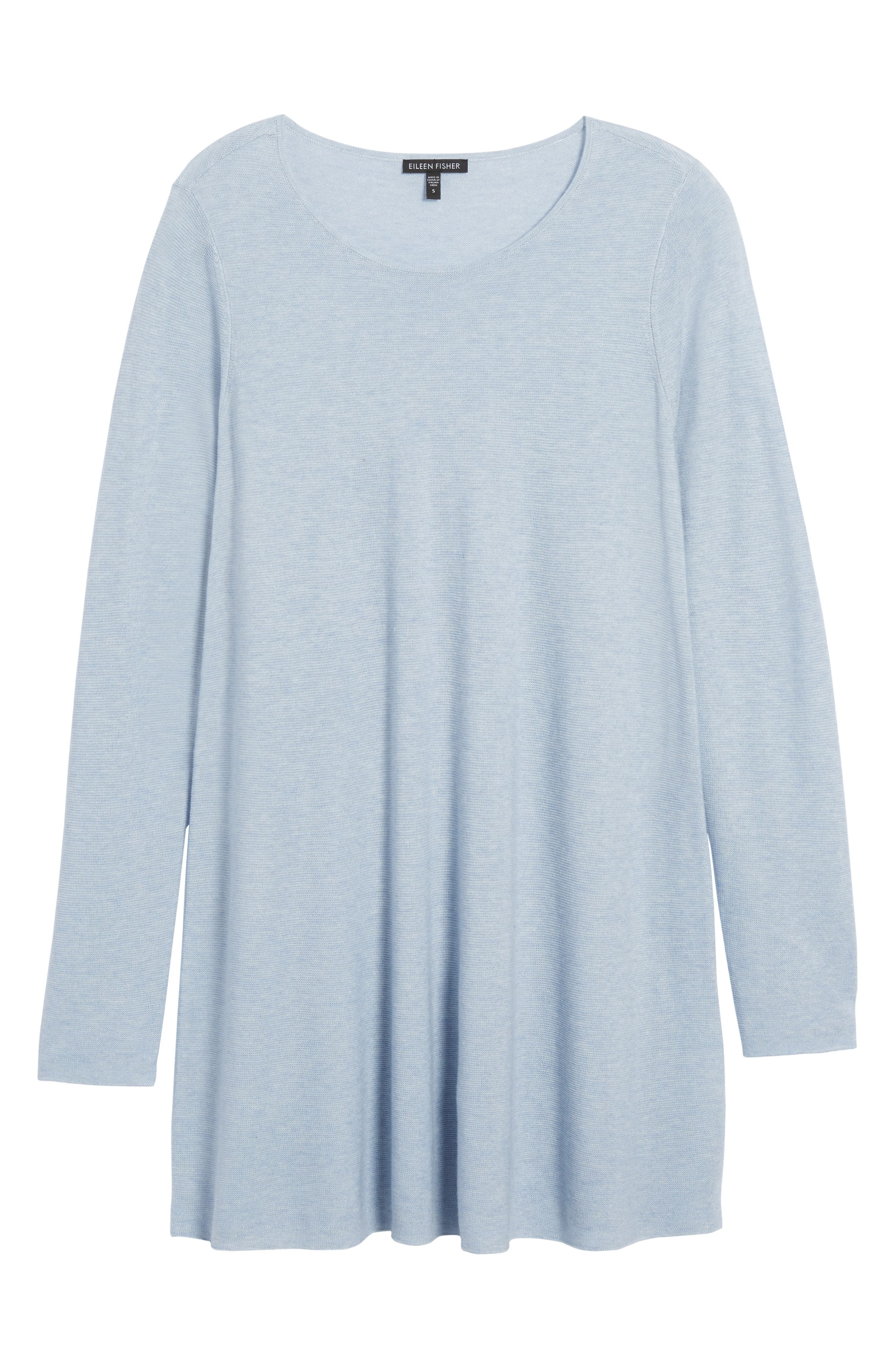 Jewel Neck Tunic Sweater,                             Alternate thumbnail 6, color,                             Delphine