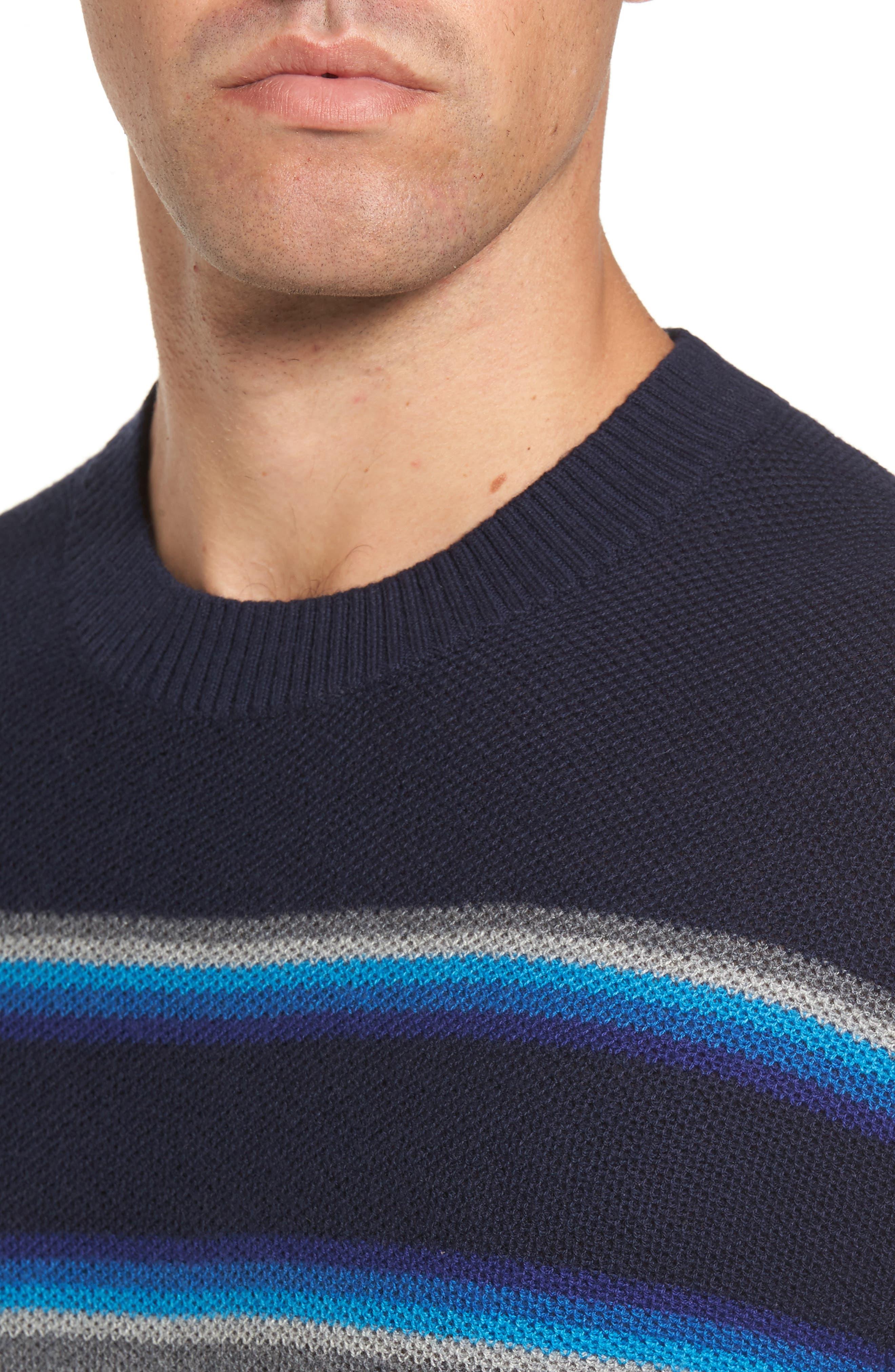 Alternate Image 4  - Michael Bastian Stripe Merino Blend Sweater