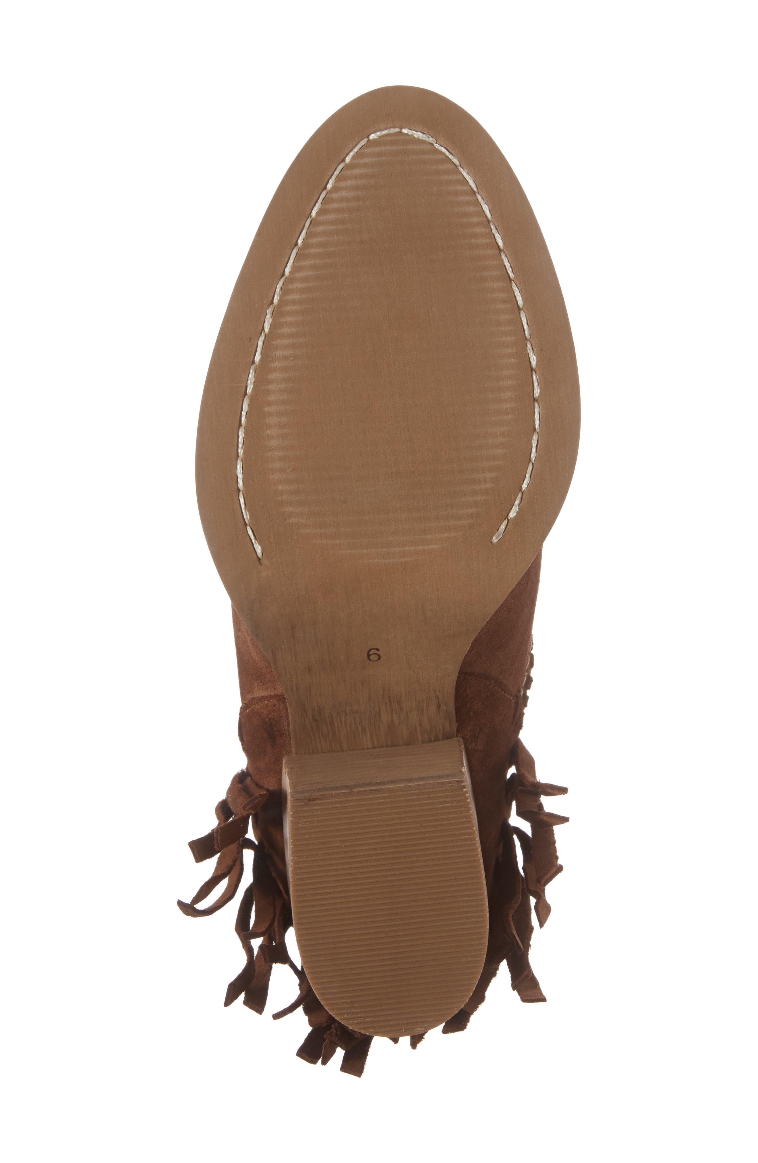 Unbridled Lily Bootie,                             Alternate thumbnail 6, color,                             Whiskey Suede