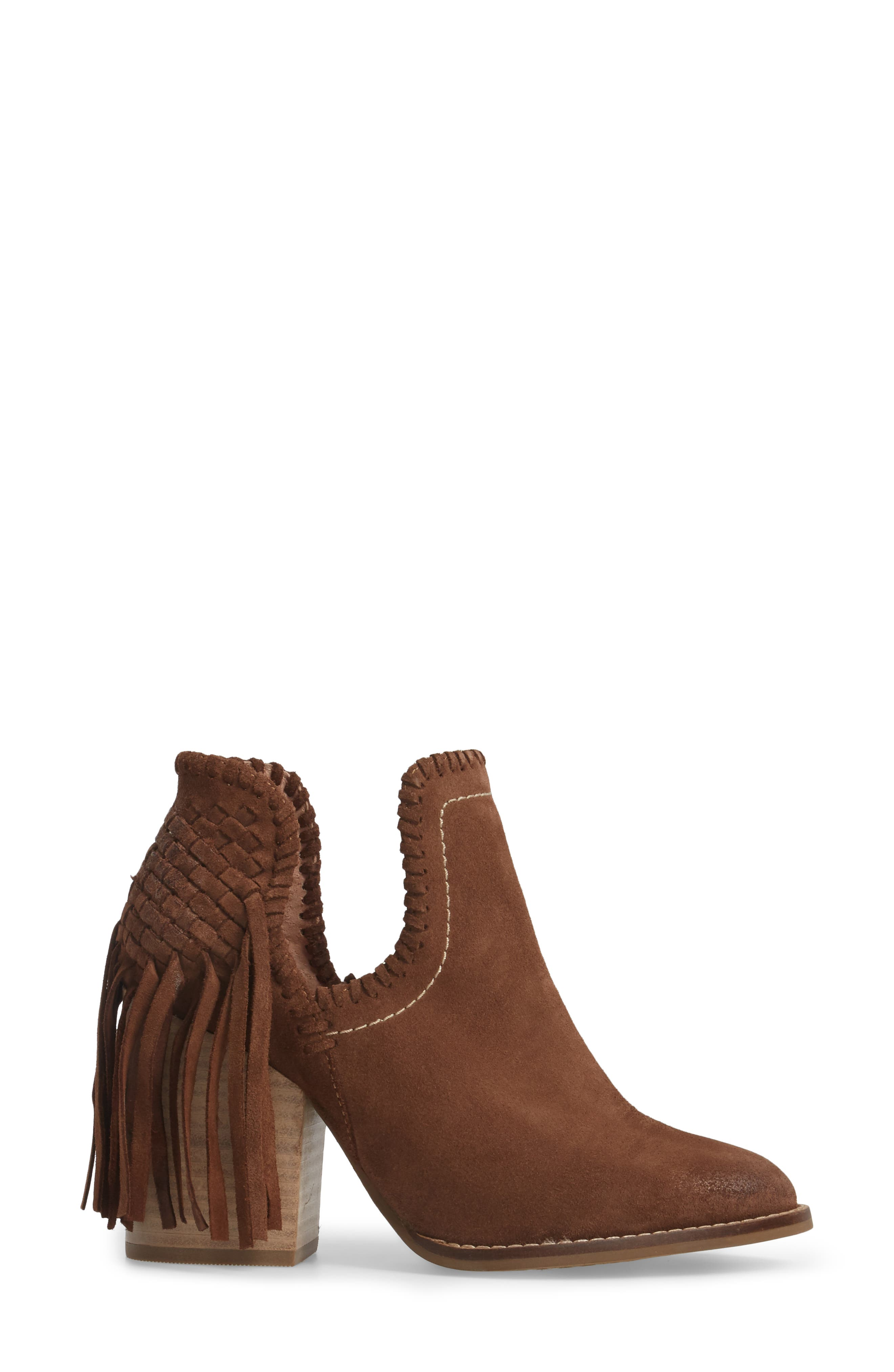 Unbridled Lily Bootie,                             Alternate thumbnail 3, color,                             Whiskey Suede