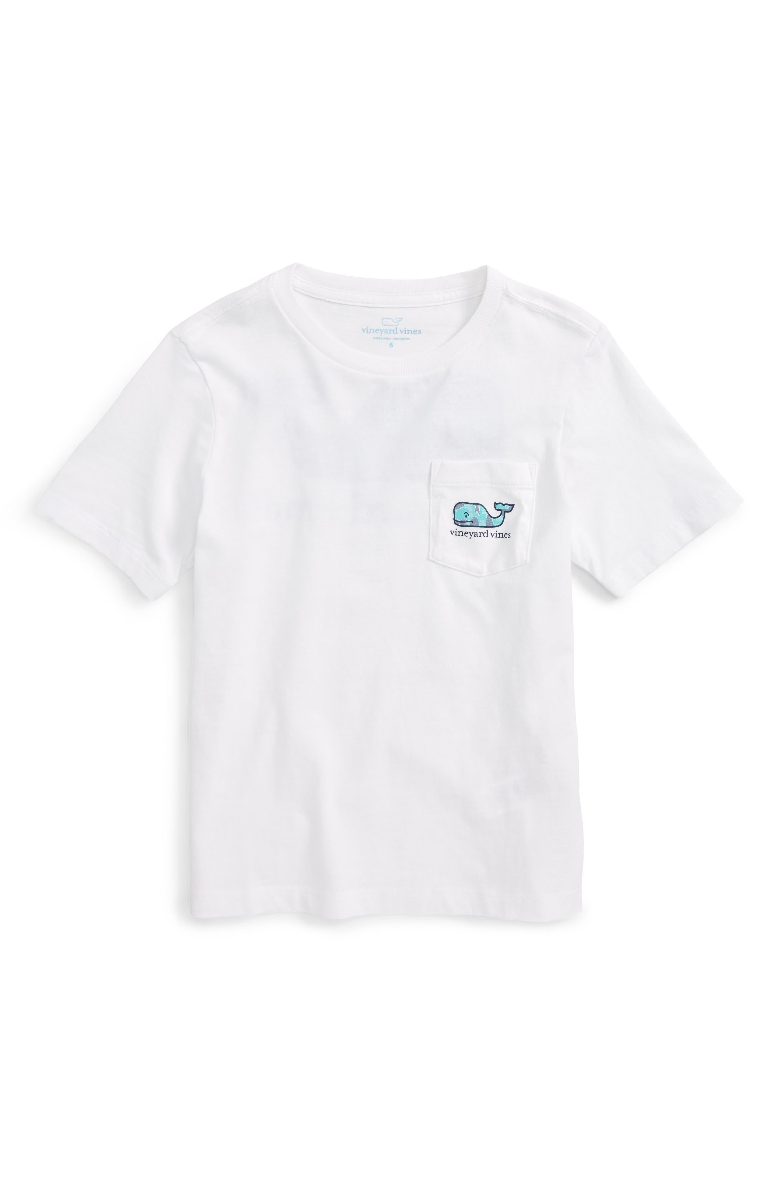 Vineyard Vines Chevron Fish Whale Pocket T-Shirt (Toddler Boys, Little Boys & Big Boys)