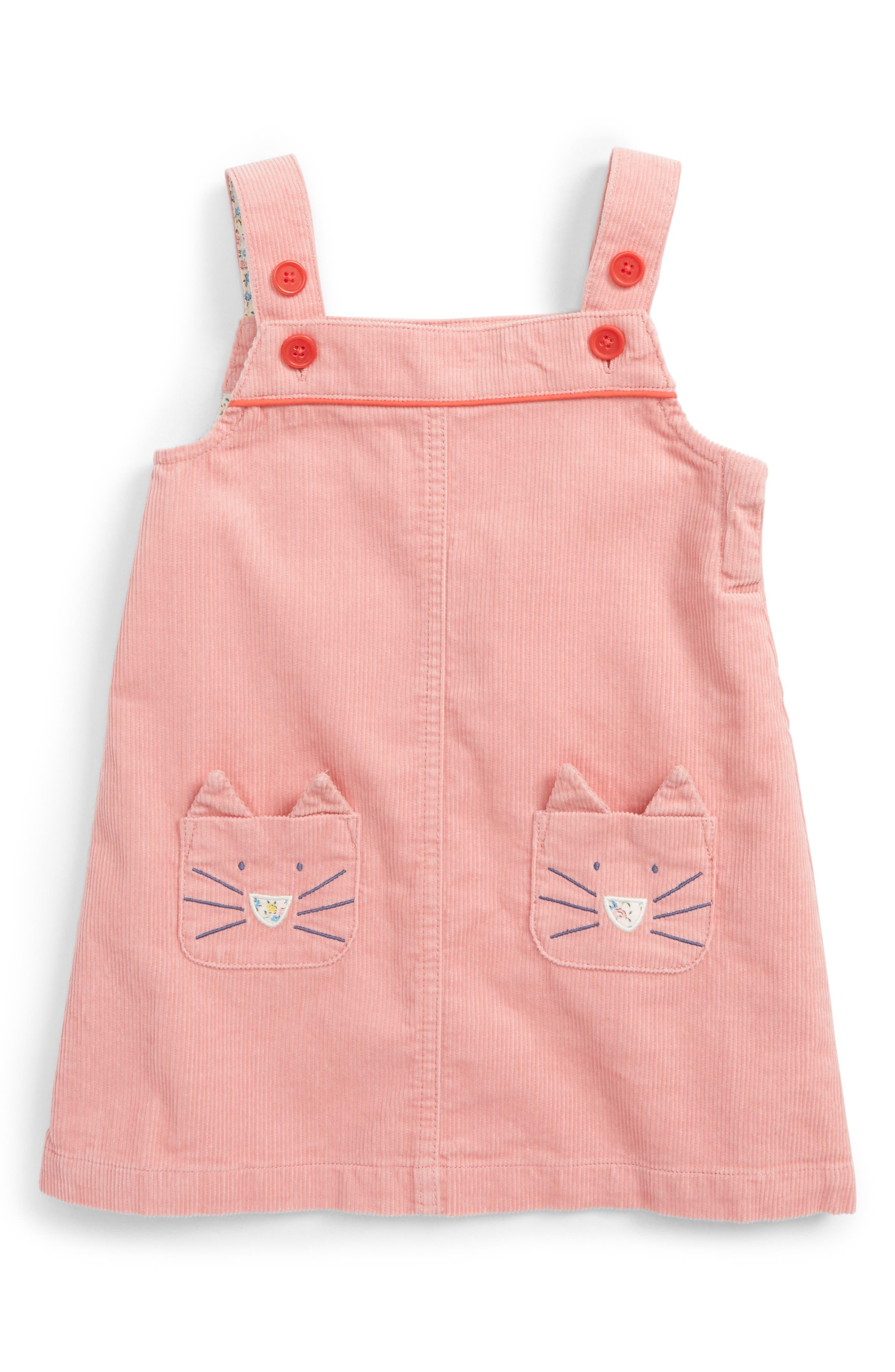 Mini Boden Fun Corduroy Pinafore Dress (Baby Girls & Toddler Girls)