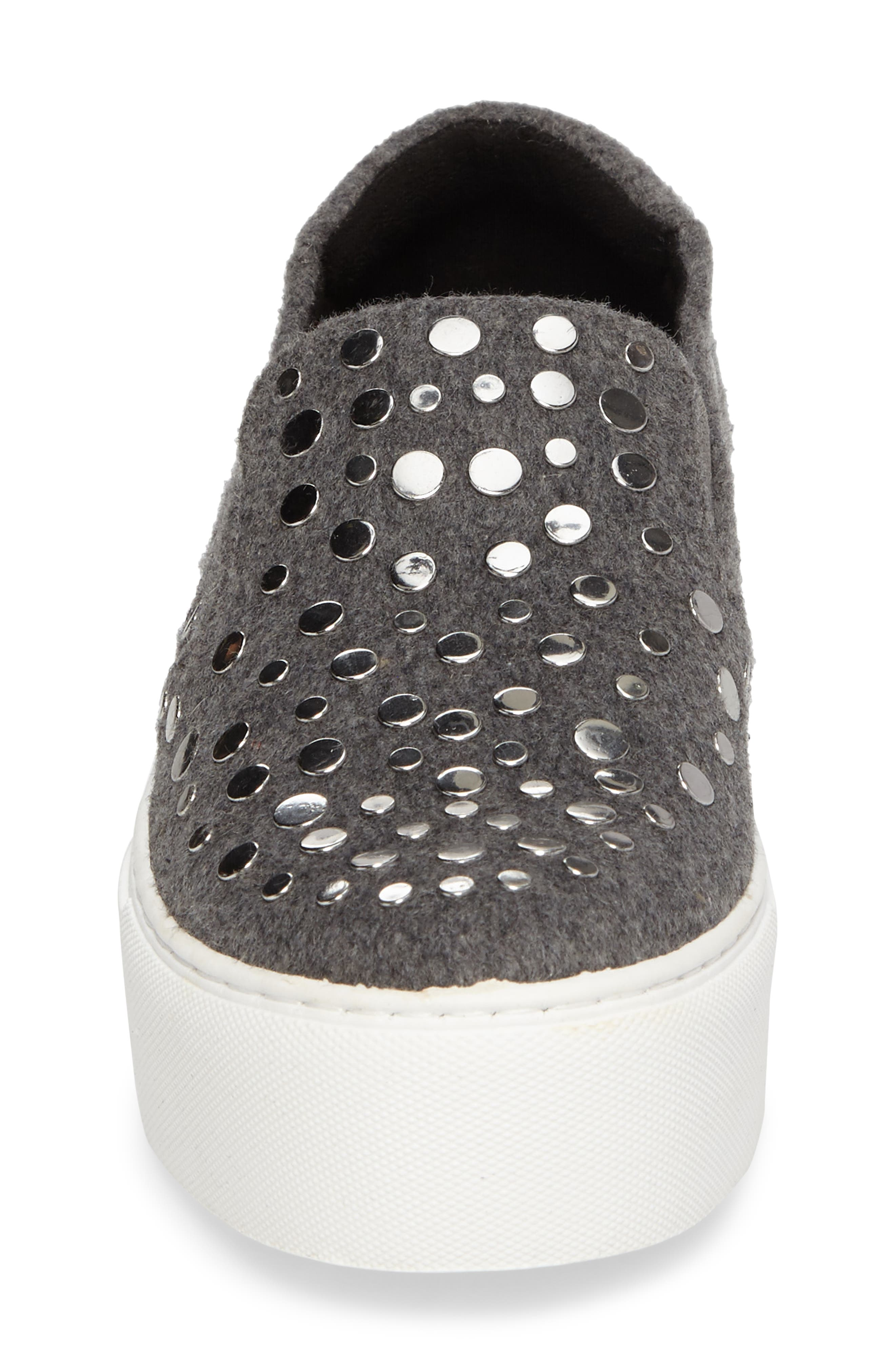 Jeyda Slip-On Sneaker,                             Alternate thumbnail 5, color,                             Grey Felt Fabric