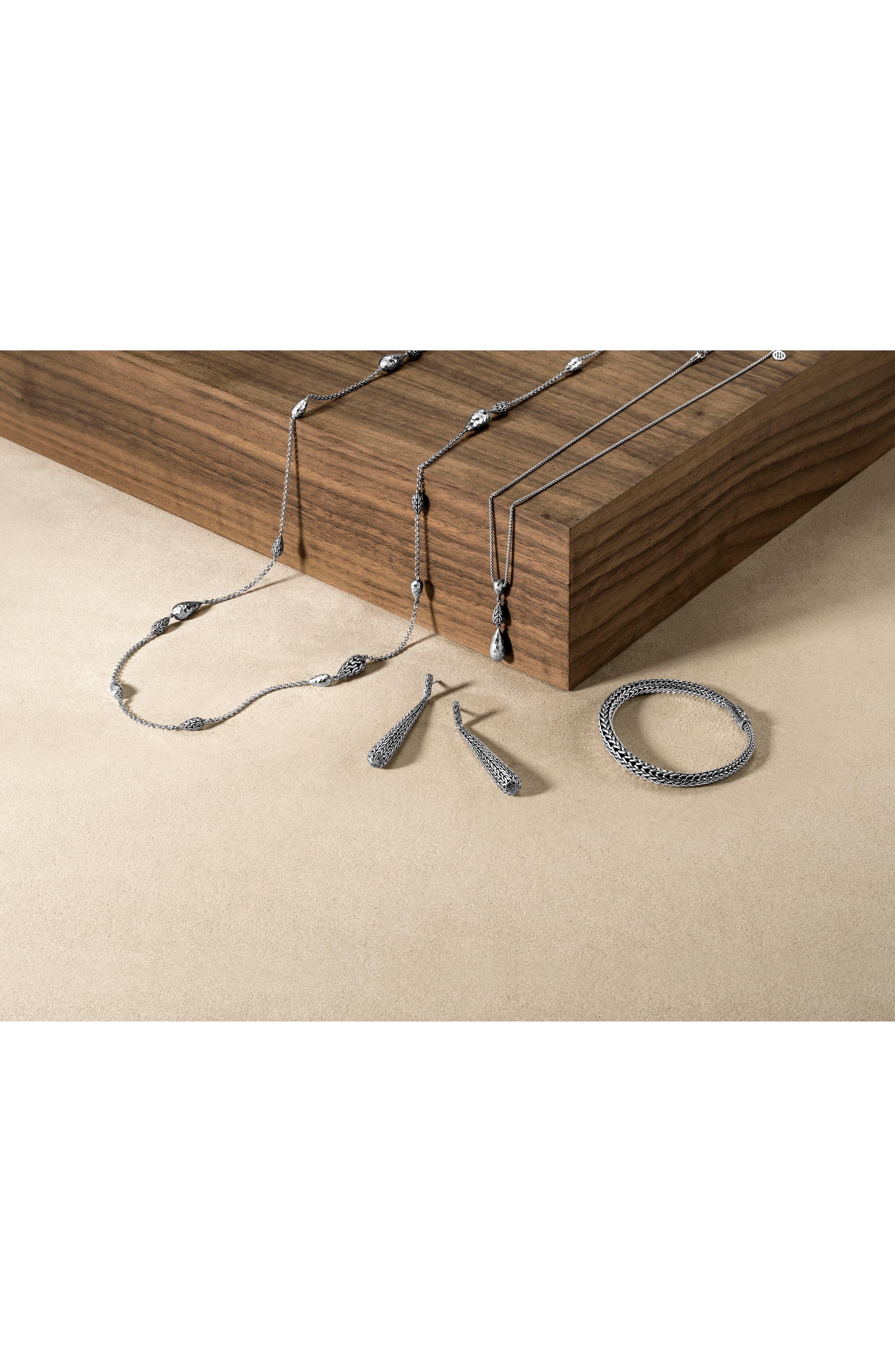 Classic Chain Pendant Necklace,                             Alternate thumbnail 3, color,                             Silver