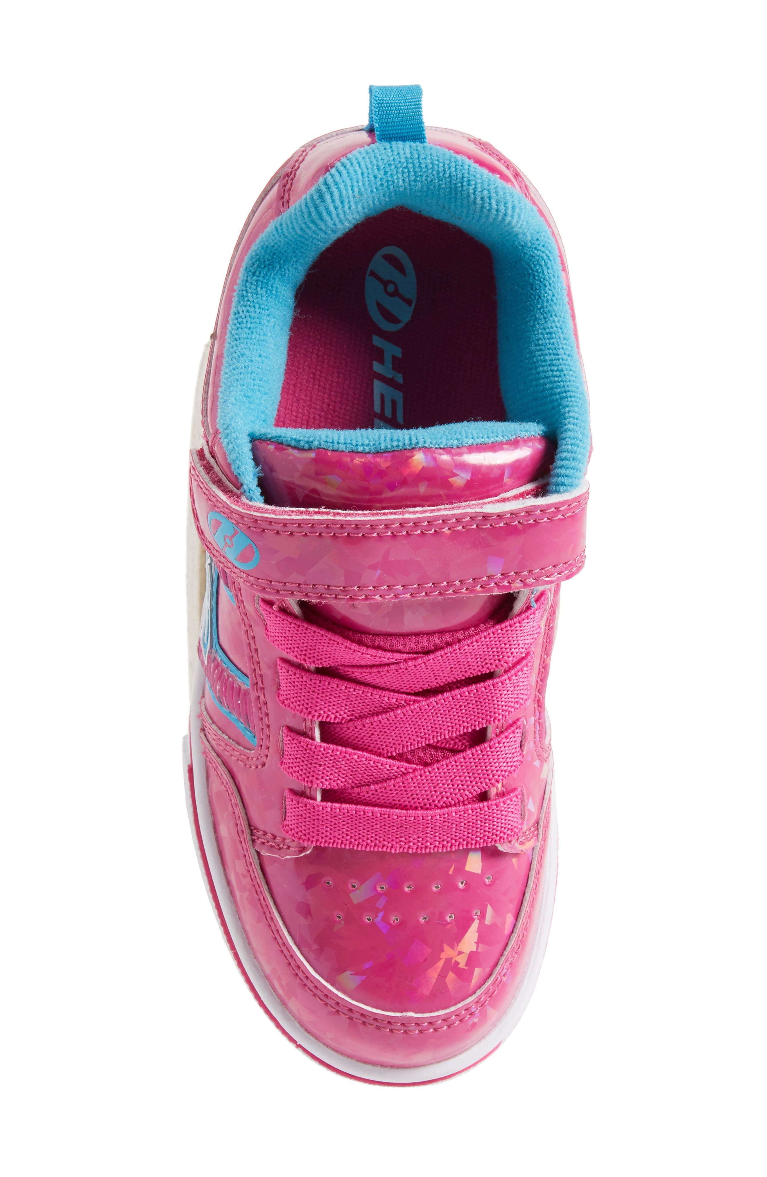 Bolt Plus X2 Light-Up Skate Sneaker,                             Alternate thumbnail 5, color,                             Hot Pink Hologram/ Neon Blue