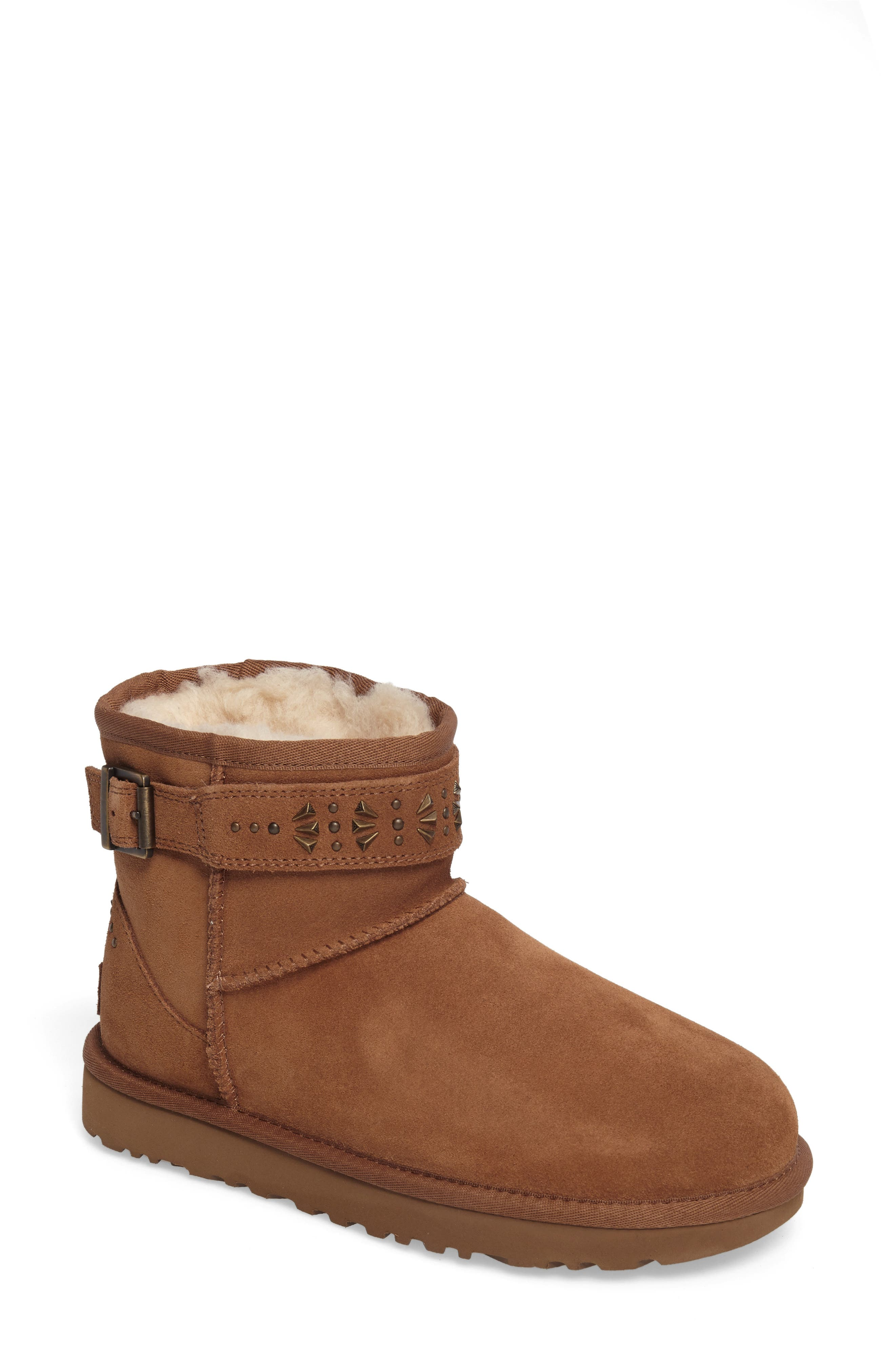 Jadine Boot,                         Main,                         color, Chestnut Suede
