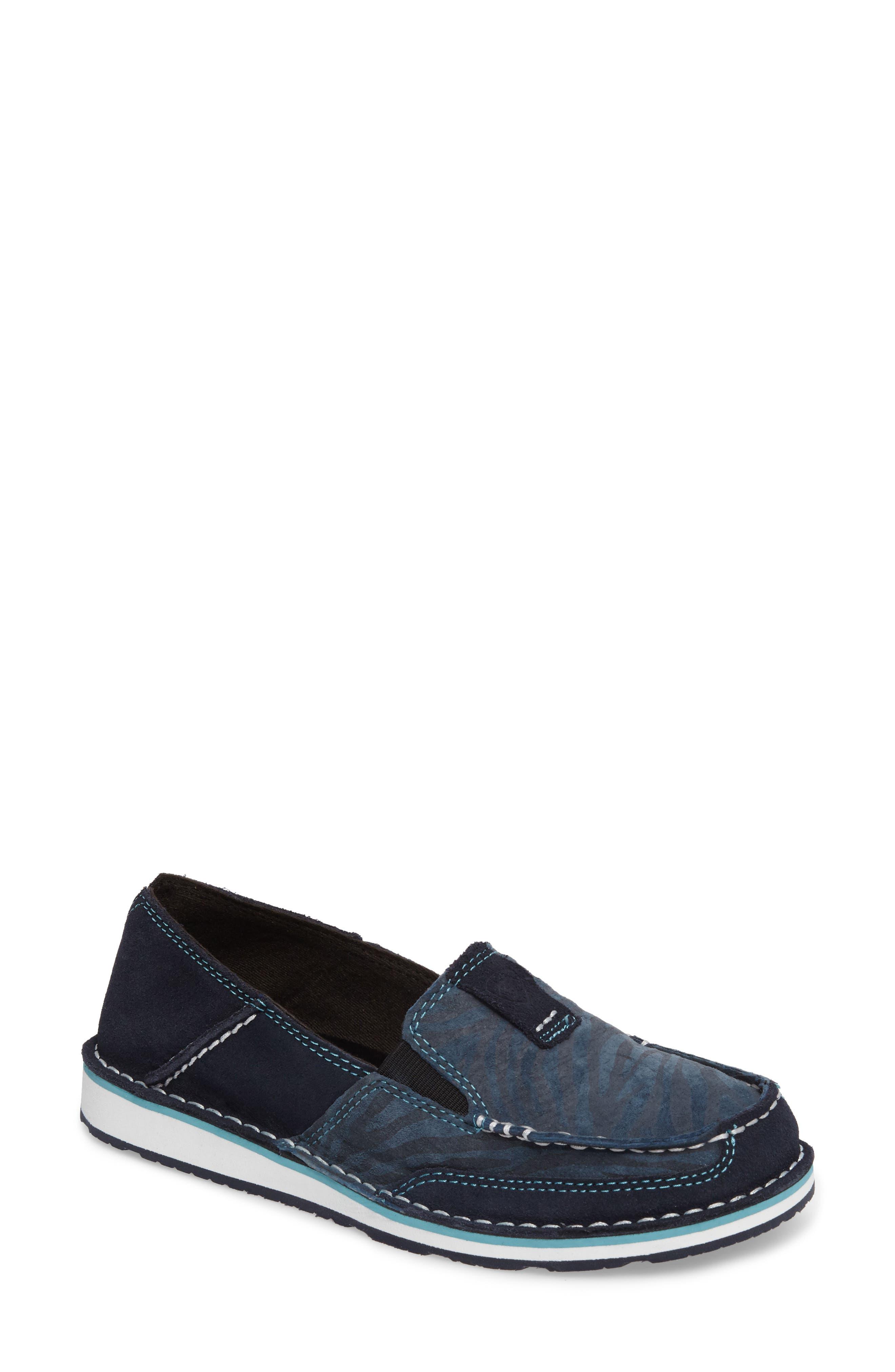 Cruiser Slip-On Loafer, Navy Eclipse/ Blue Zebra Suede
