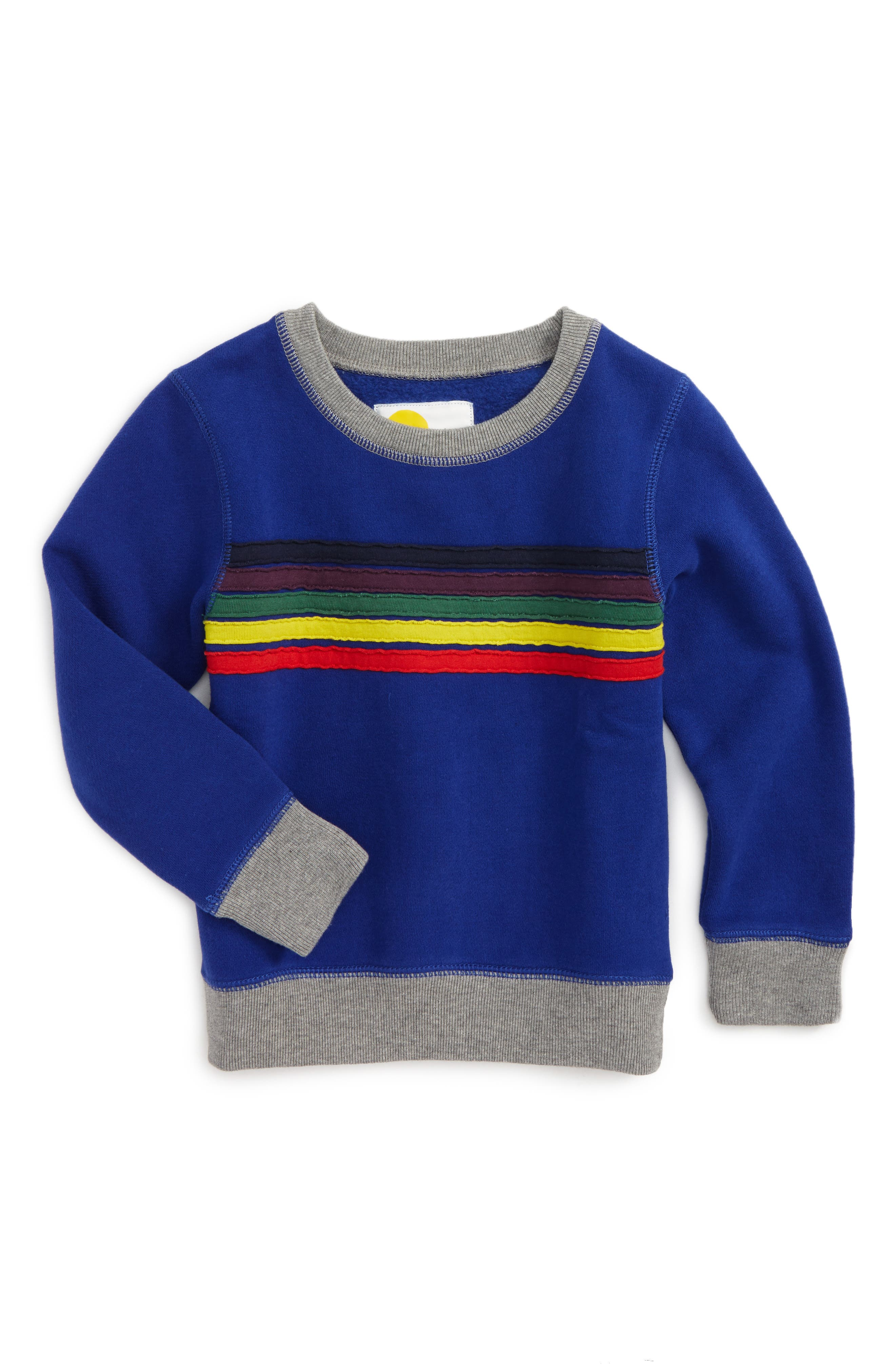 Main Image - Mini Boden Fun Sweatshirt (Toddler Boys, Little Boys & Big Boys)