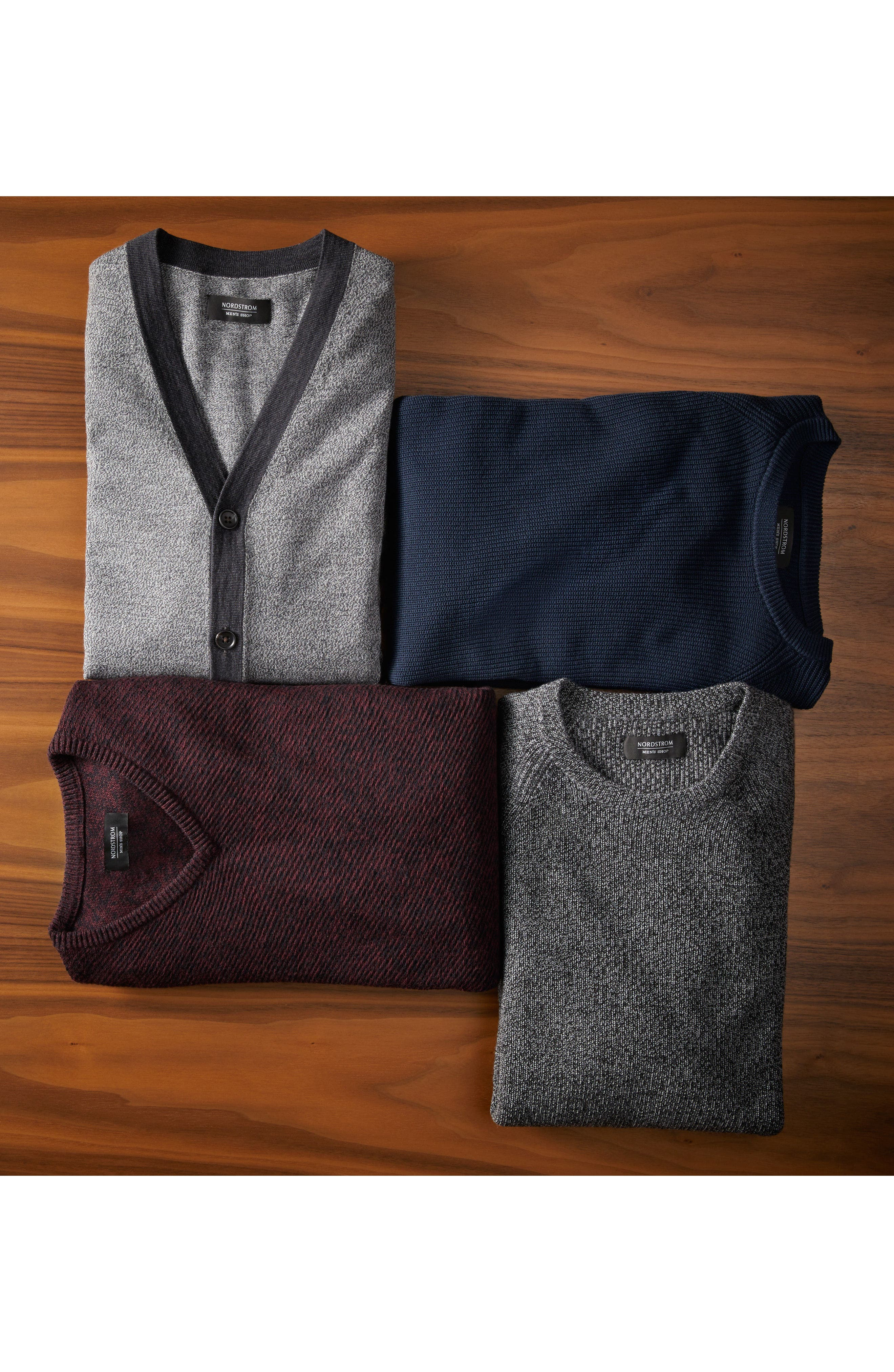 Cotton & Cashmere V-Neck Sweater,                             Alternate thumbnail 2, color,