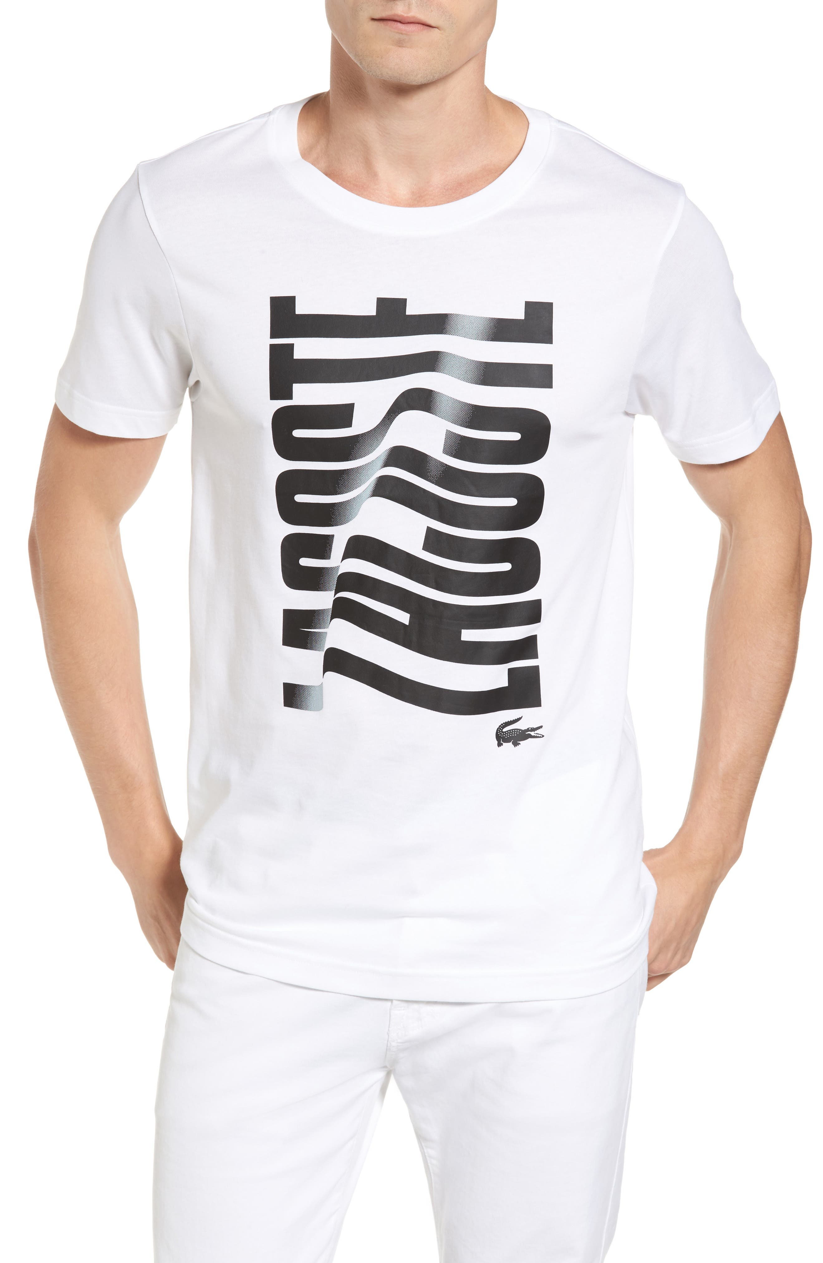 Main Image - Lacoste Vertical Graphic T-Shirt