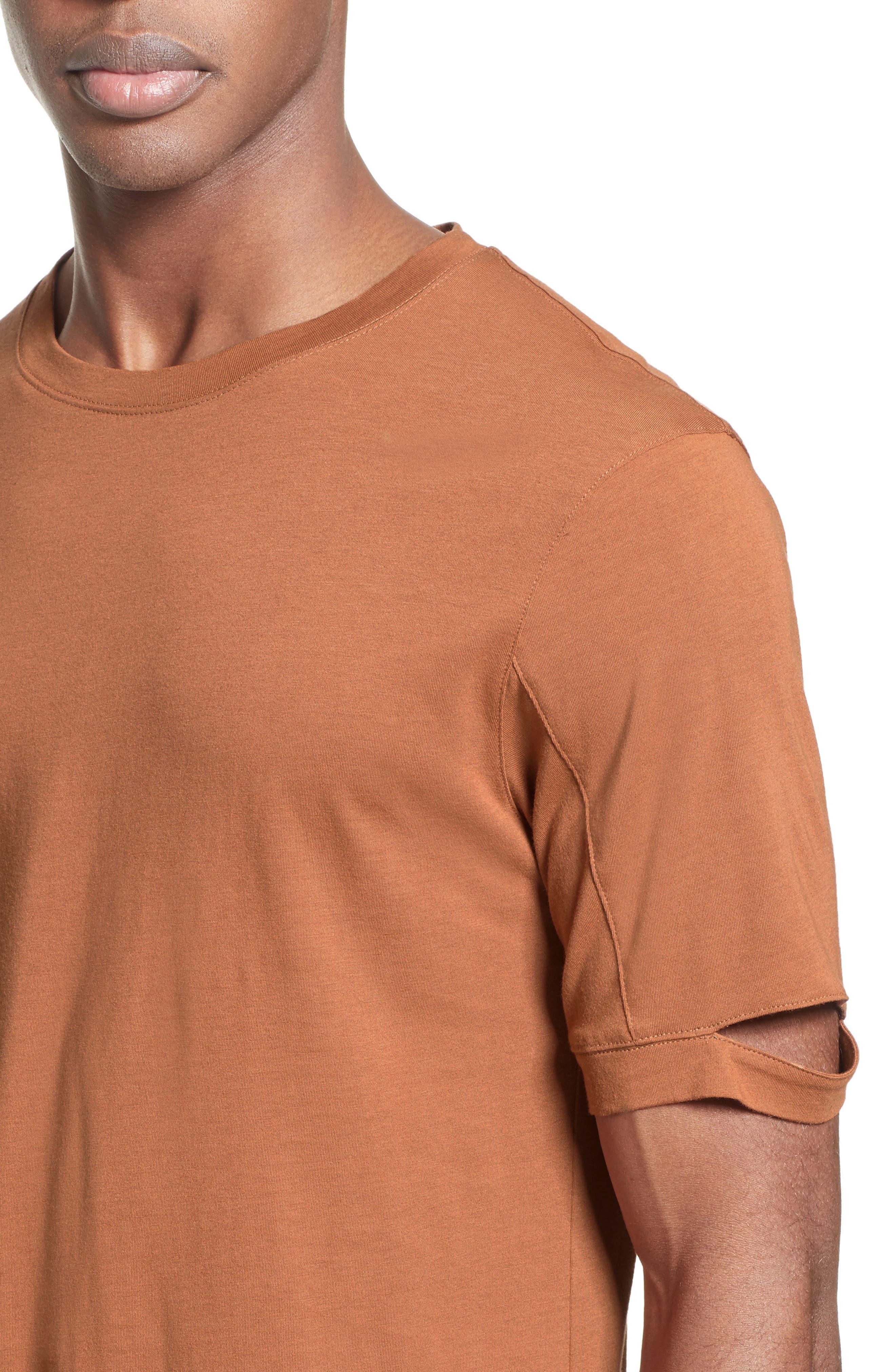 Alternate Image 4  - Helmut Lang Sliced Sleeve T-Shirt