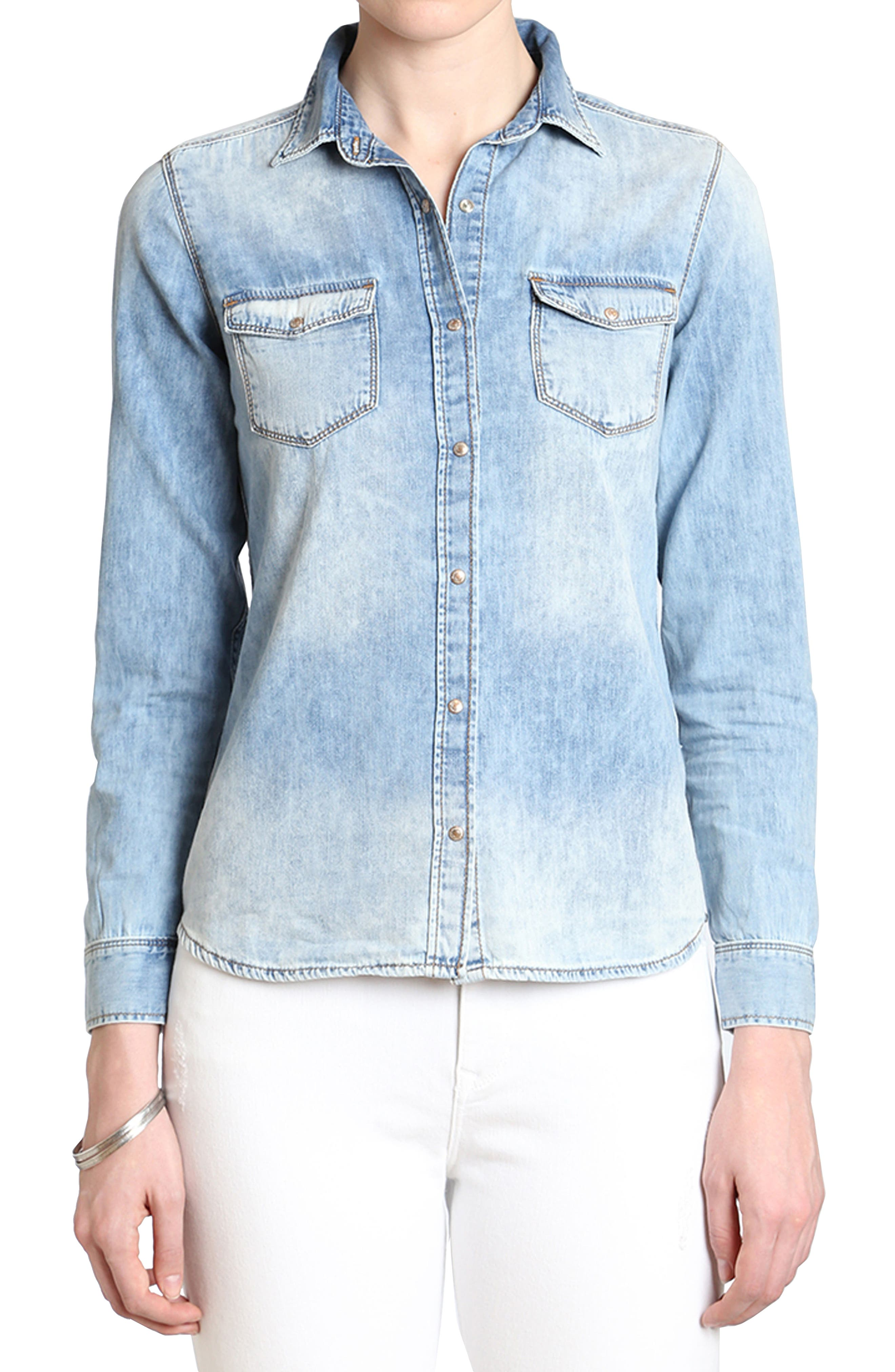 Mavi Isabel Rose Embroidery Denim Shirt