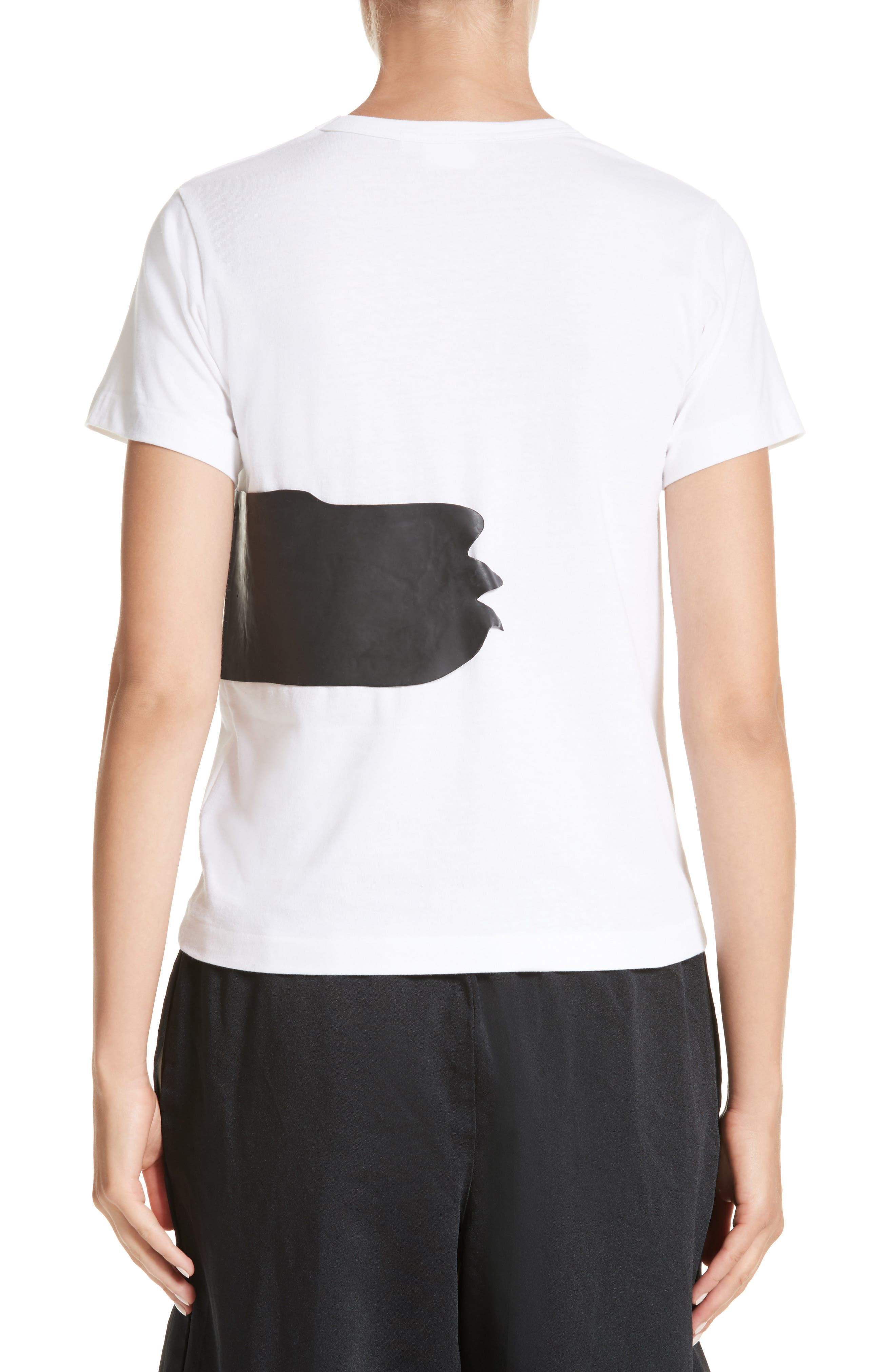 Rubber Graphic Tee,                             Alternate thumbnail 2, color,                             White/ Black