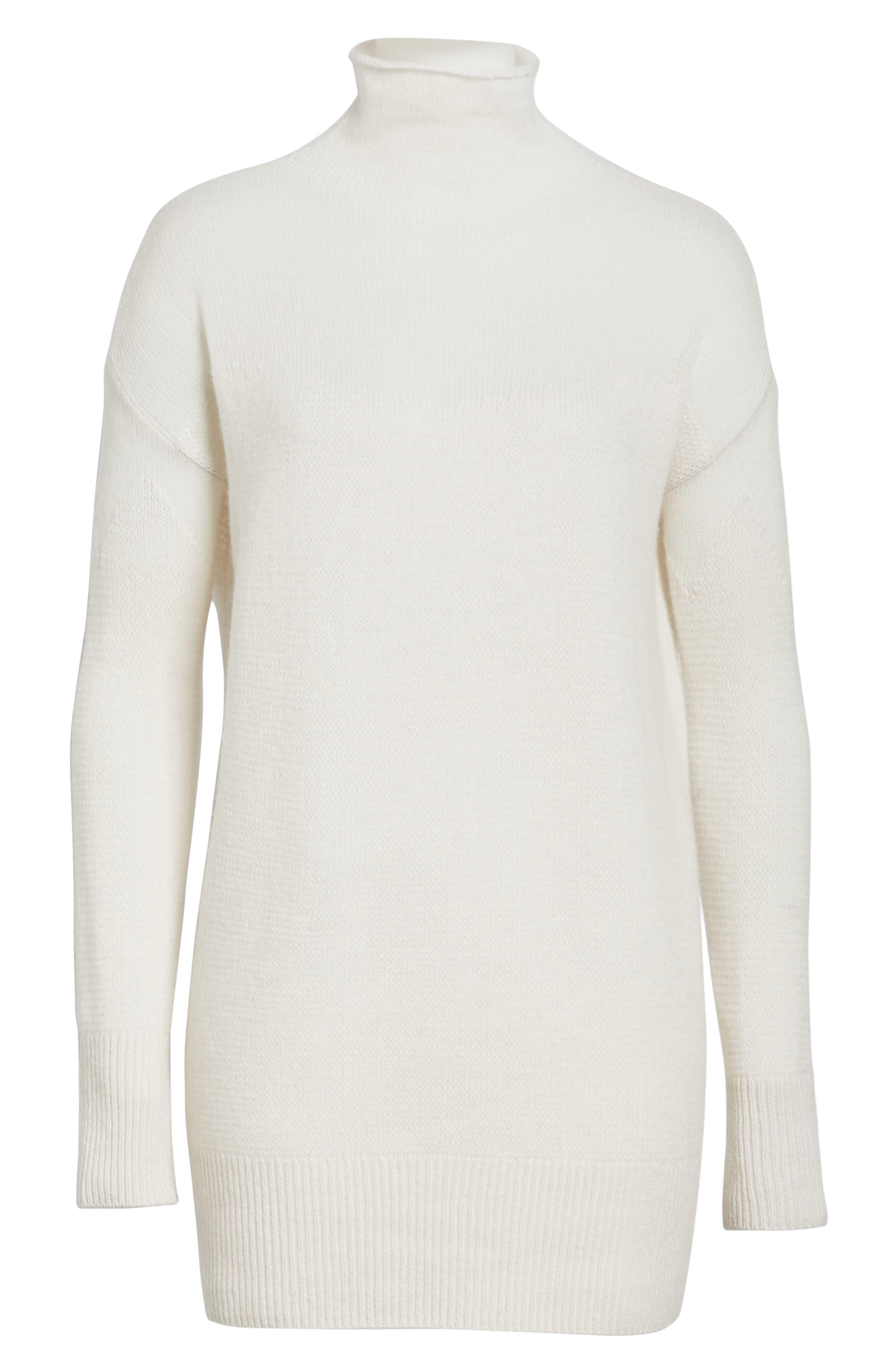 Alternate Image 6  - Halogen® Sheer Yoke Cashmere Sweater (Regular & Petite)