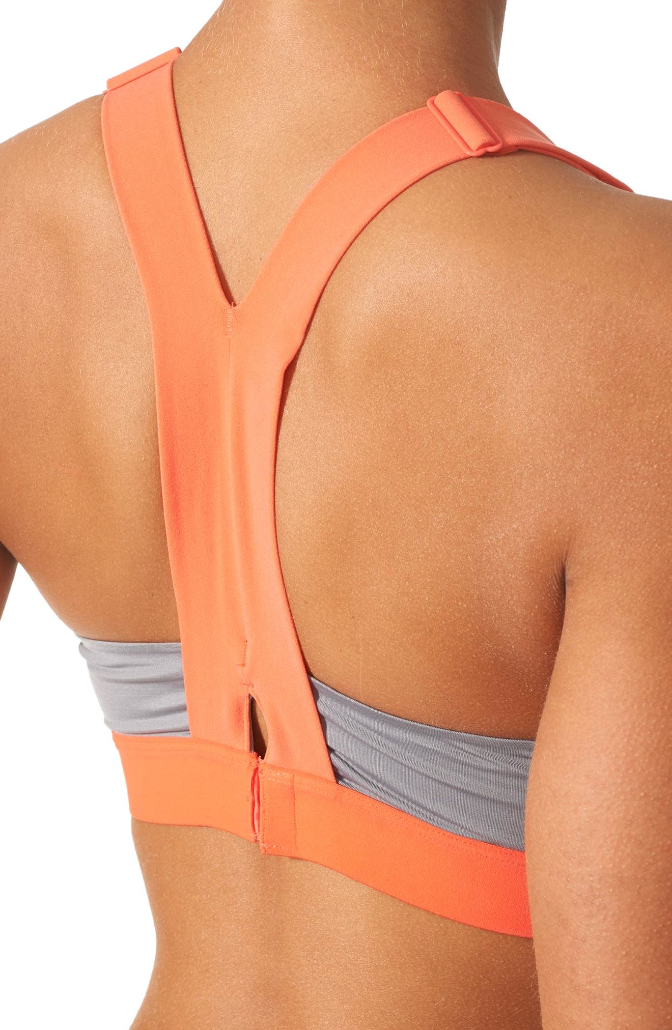 Alternate Image 4  - adidas Committed Racerback Sports Bra