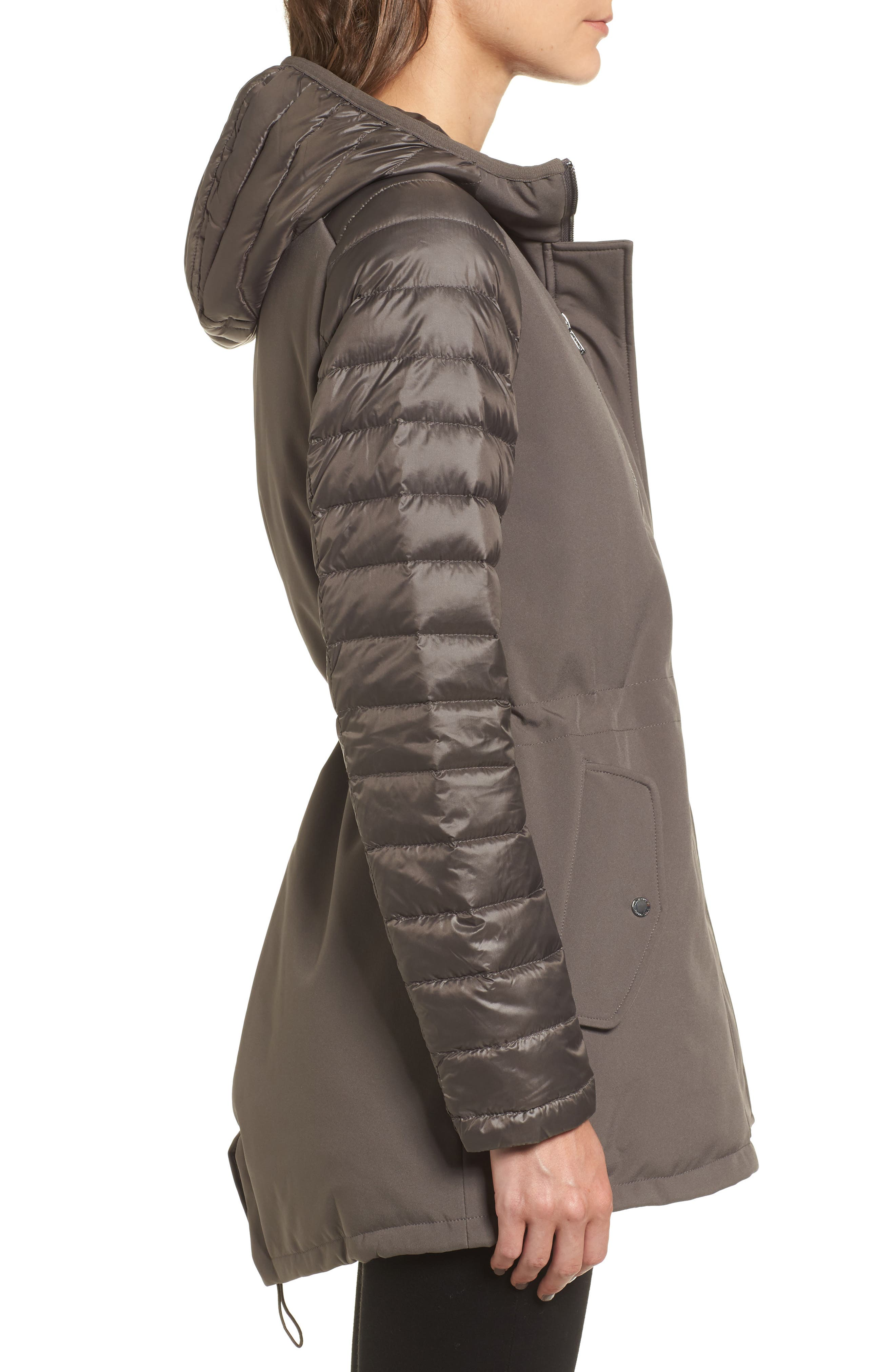 Alternate Image 3  - Vince Camuto Mixed Media Soft Shell Jacket