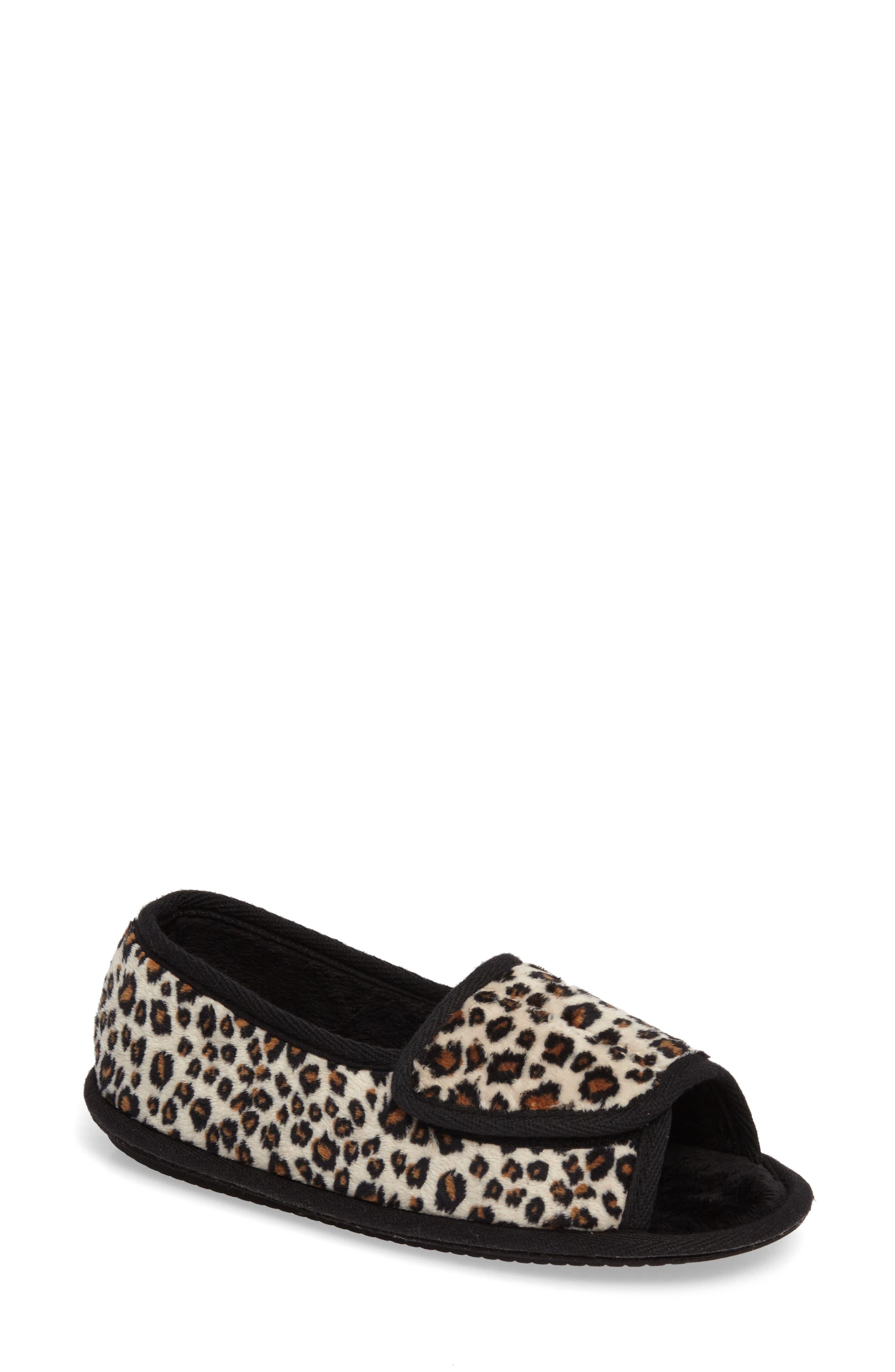 Tara II Slipper,                         Main,                         color, Cheetah Fabric