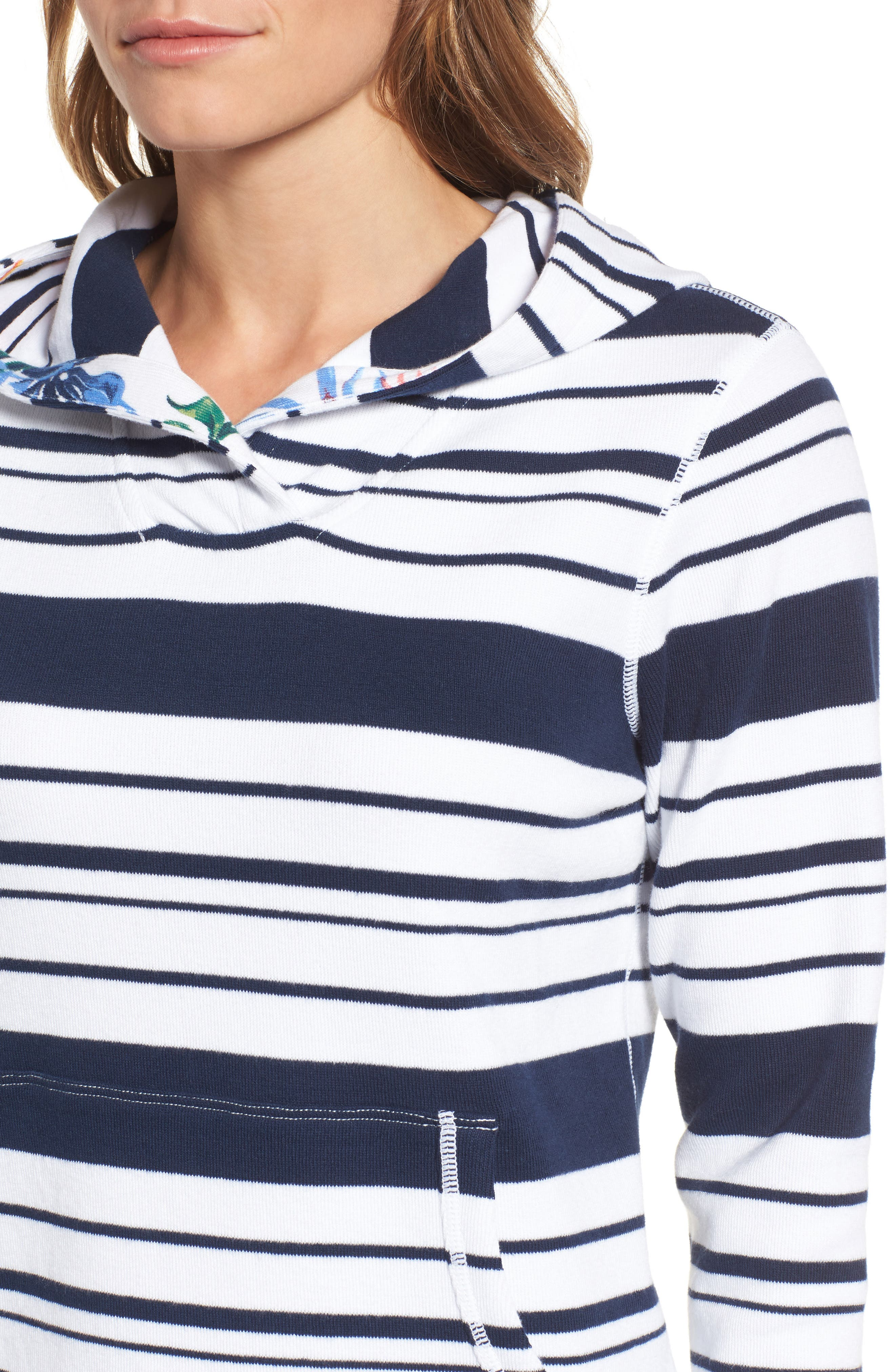 Aruba Stripe Hoodie,                             Alternate thumbnail 4, color,                             Ocean Deep