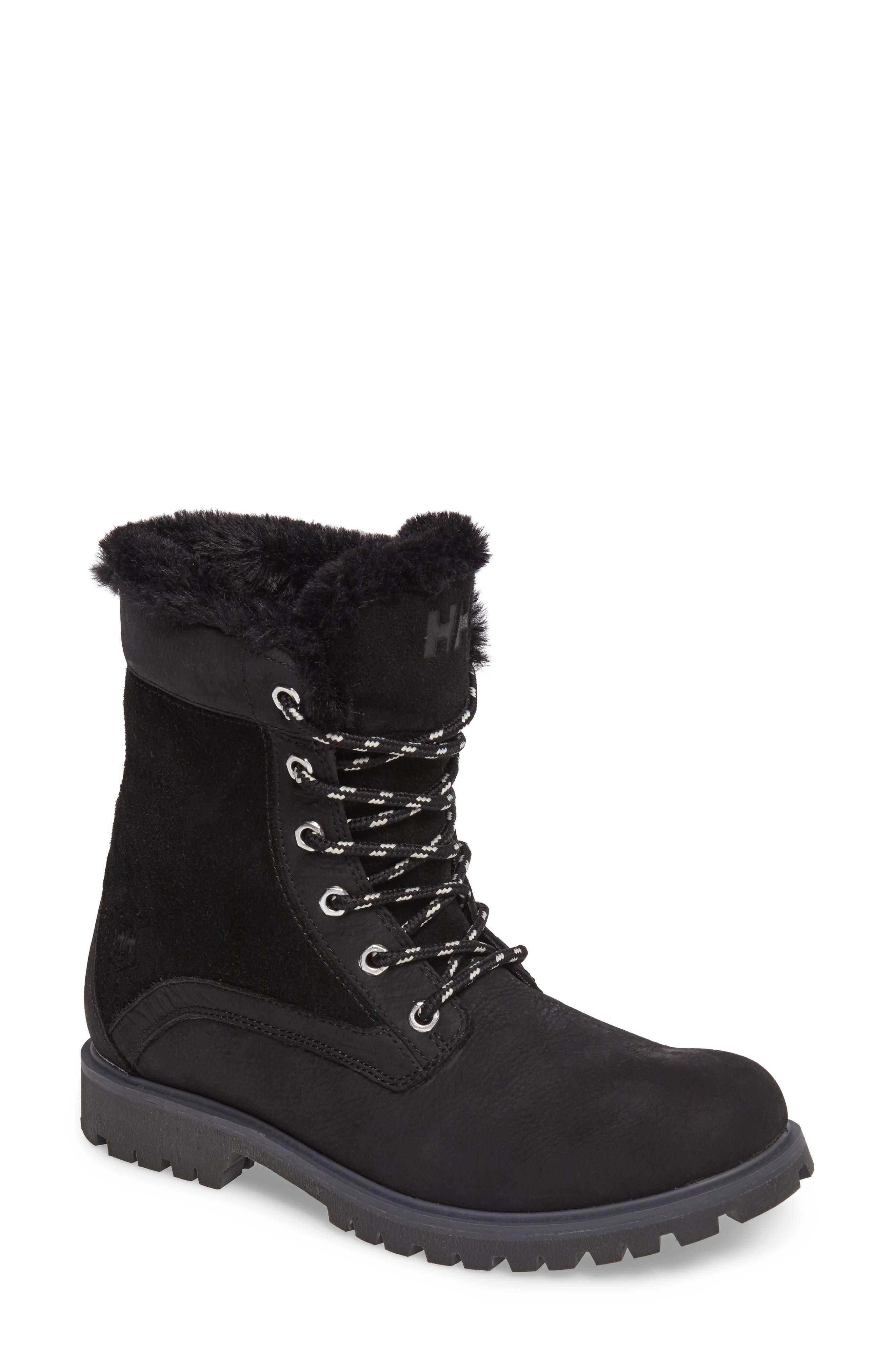 Marion Waterproof Winter Boot,                             Main thumbnail 1, color,                             Jet Black / Ebony / Black