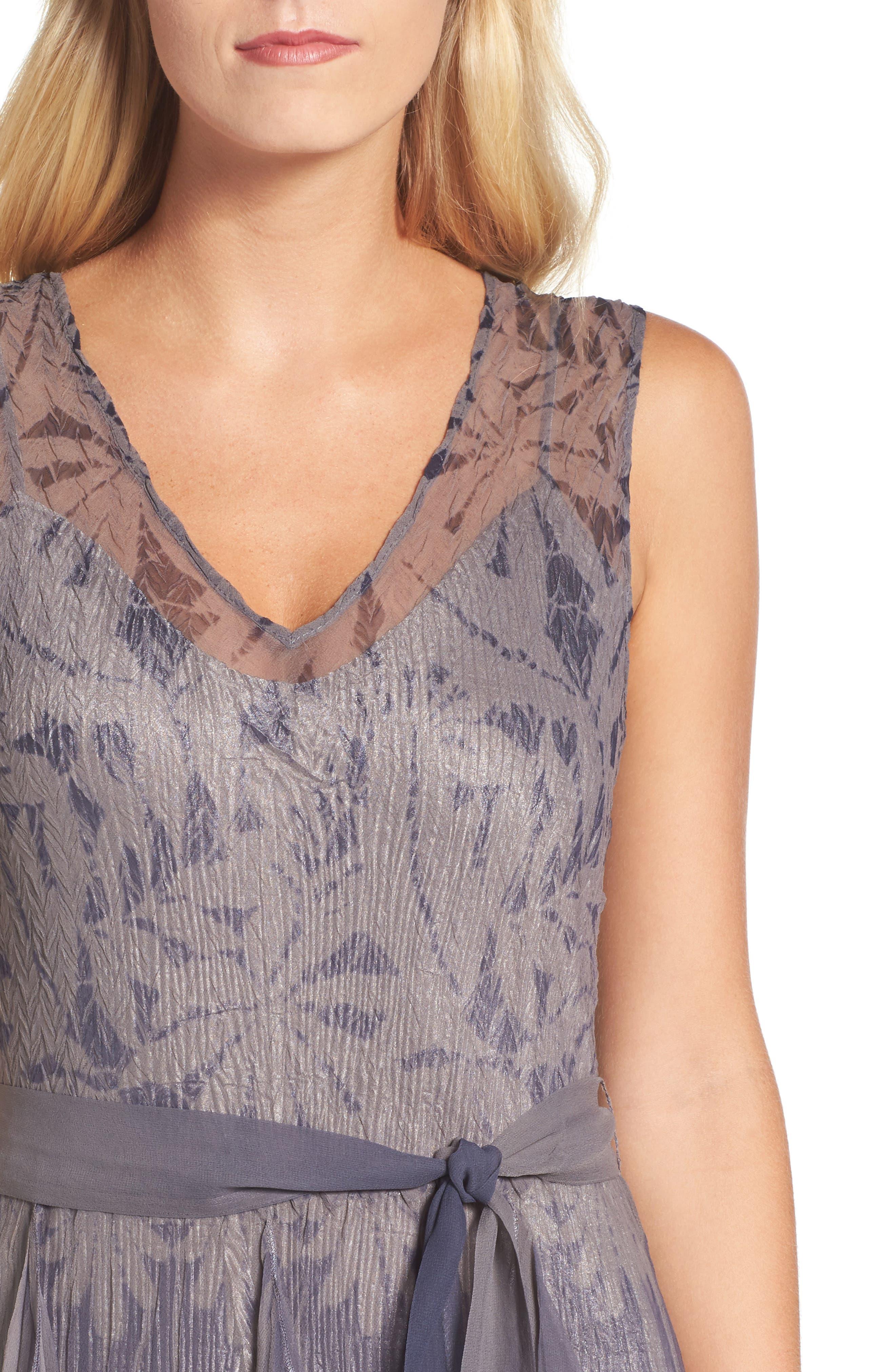 Alternate Image 4  - Komarov Print Sash Maxi Dress