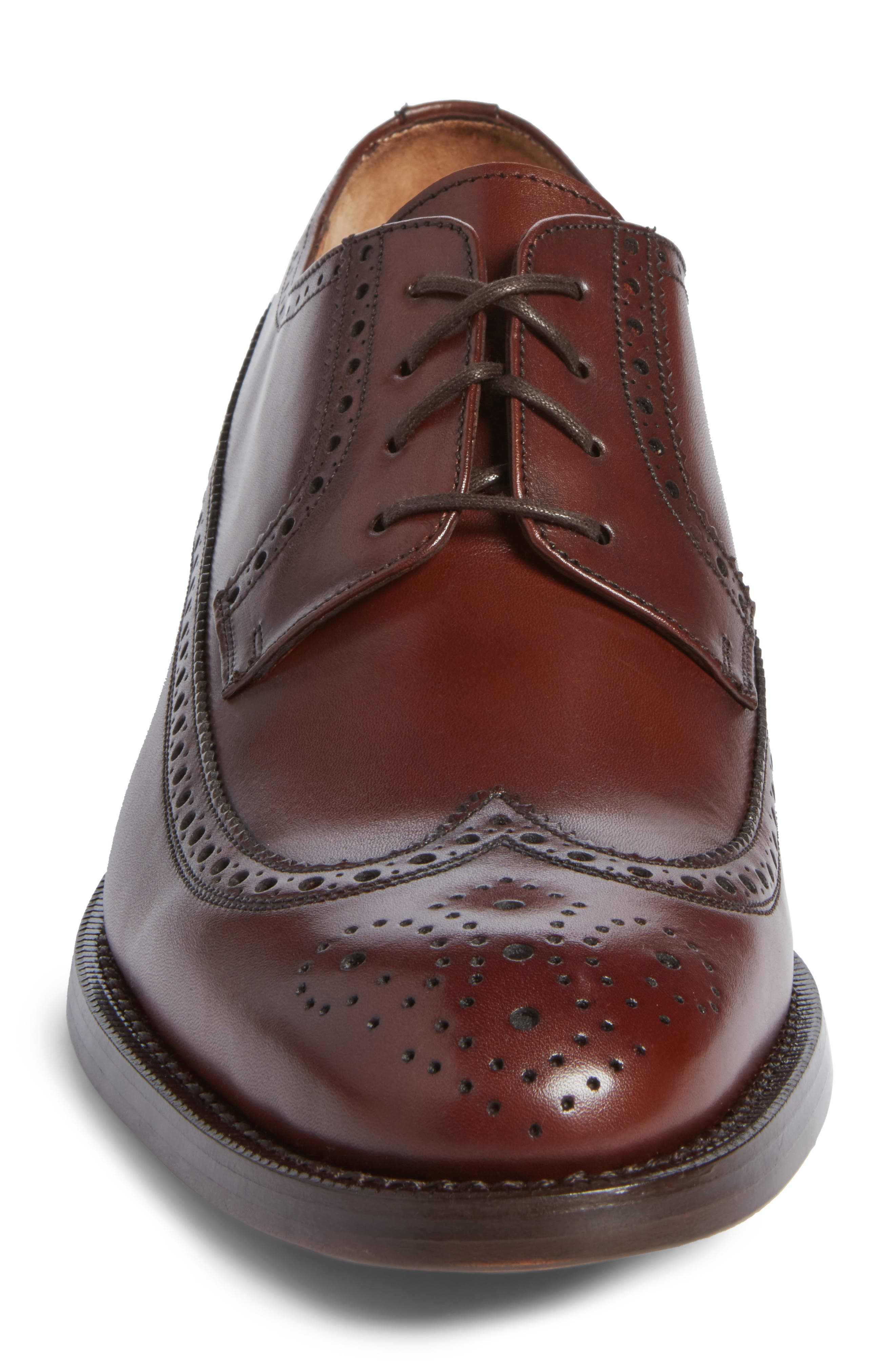 Hubert Longwing Derby,                             Alternate thumbnail 4, color,                             Chocolate Leather