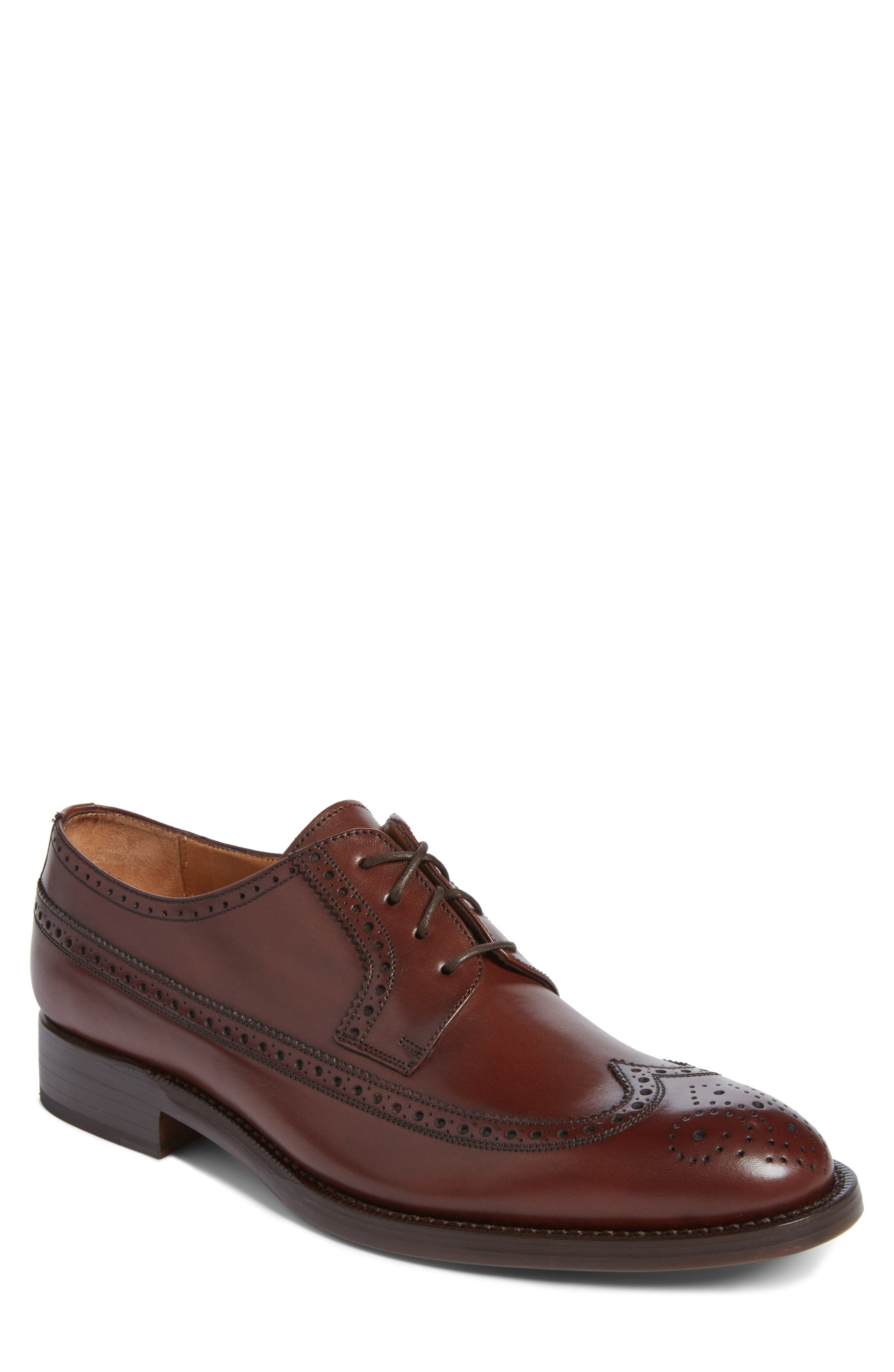 Hubert Longwing Derby,                             Main thumbnail 1, color,                             Chocolate Leather