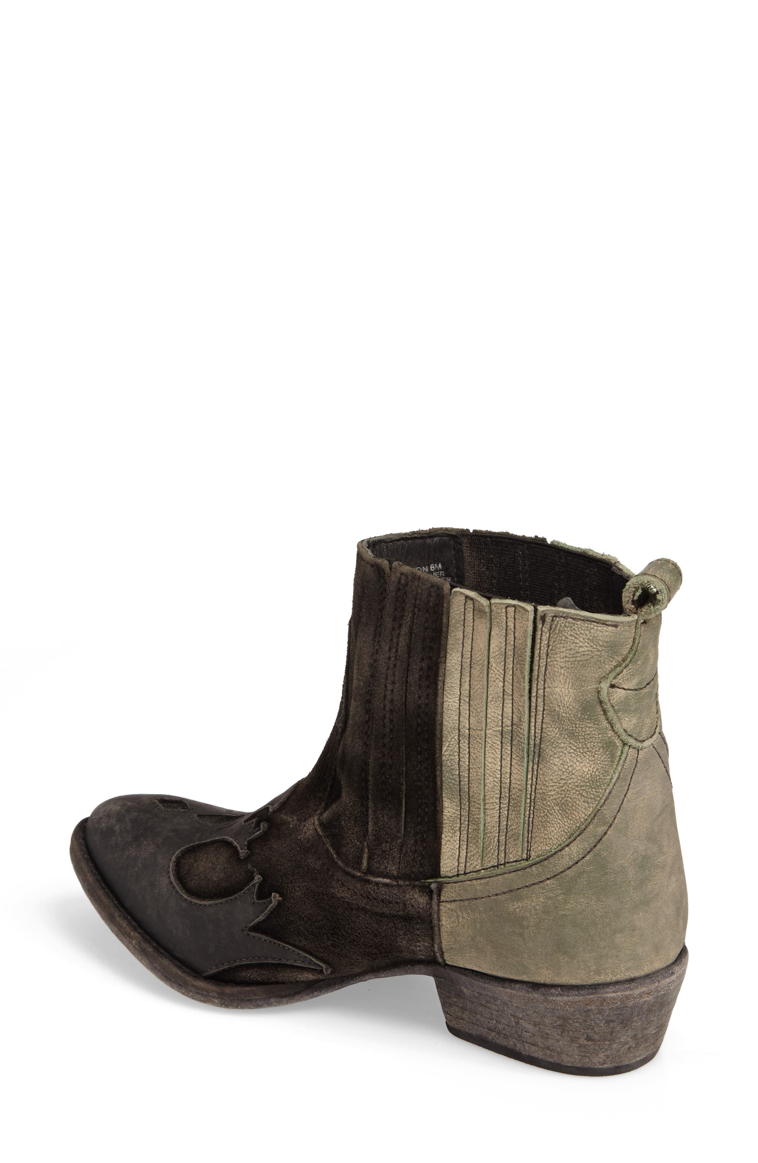 Royston Bootie,                             Alternate thumbnail 2, color,                             Black Leather
