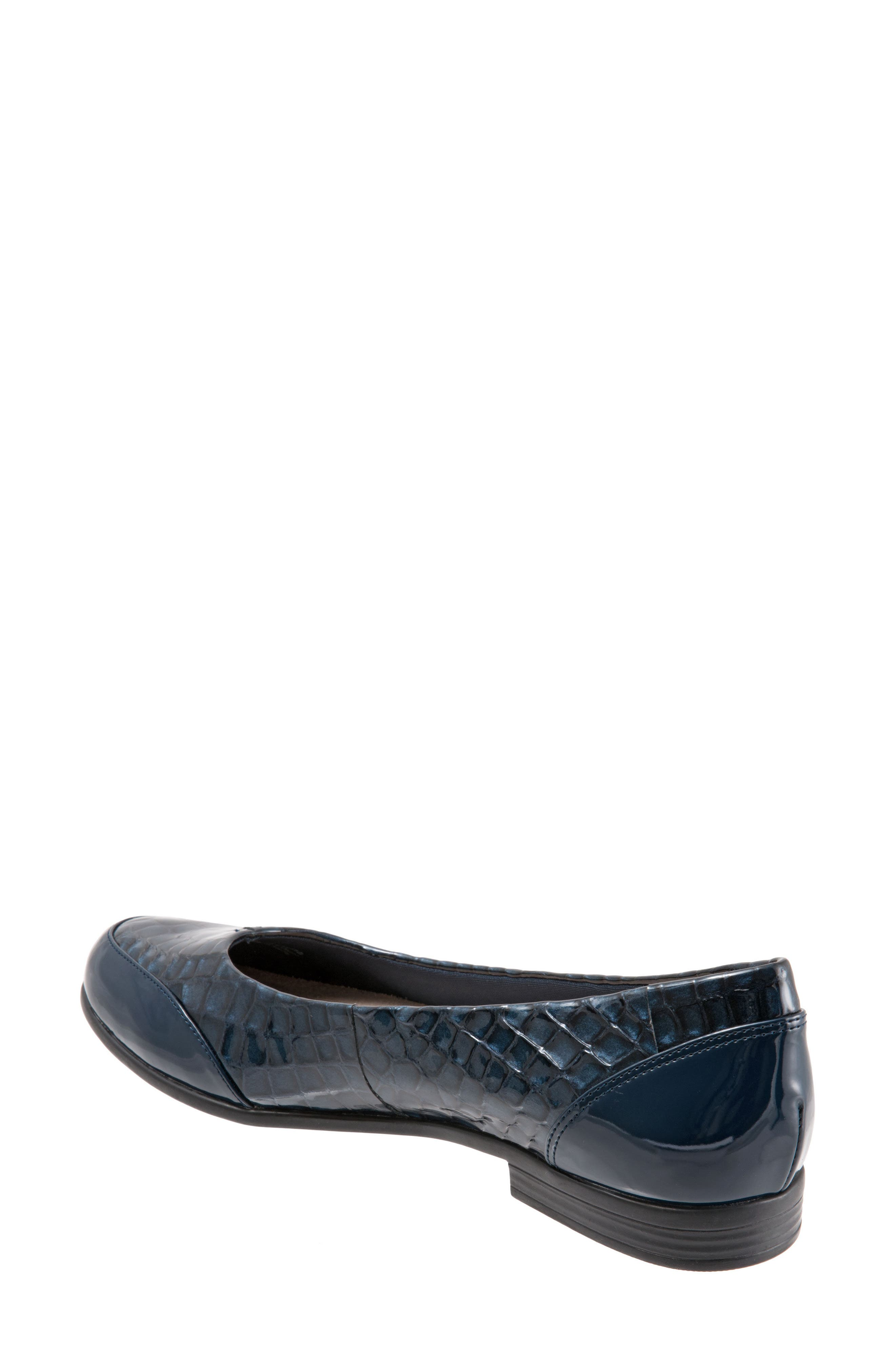 Arnello Flat,                             Alternate thumbnail 2, color,                             Navy Leather